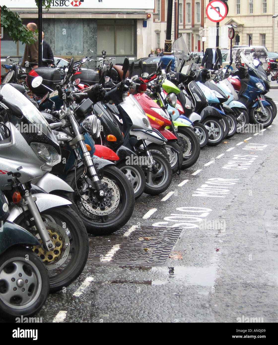 Solo Motor Cycles Scooters - Stock Image