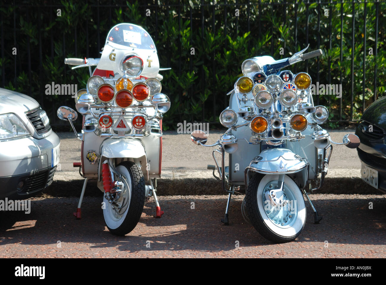 Mod Scooters - Stock Image