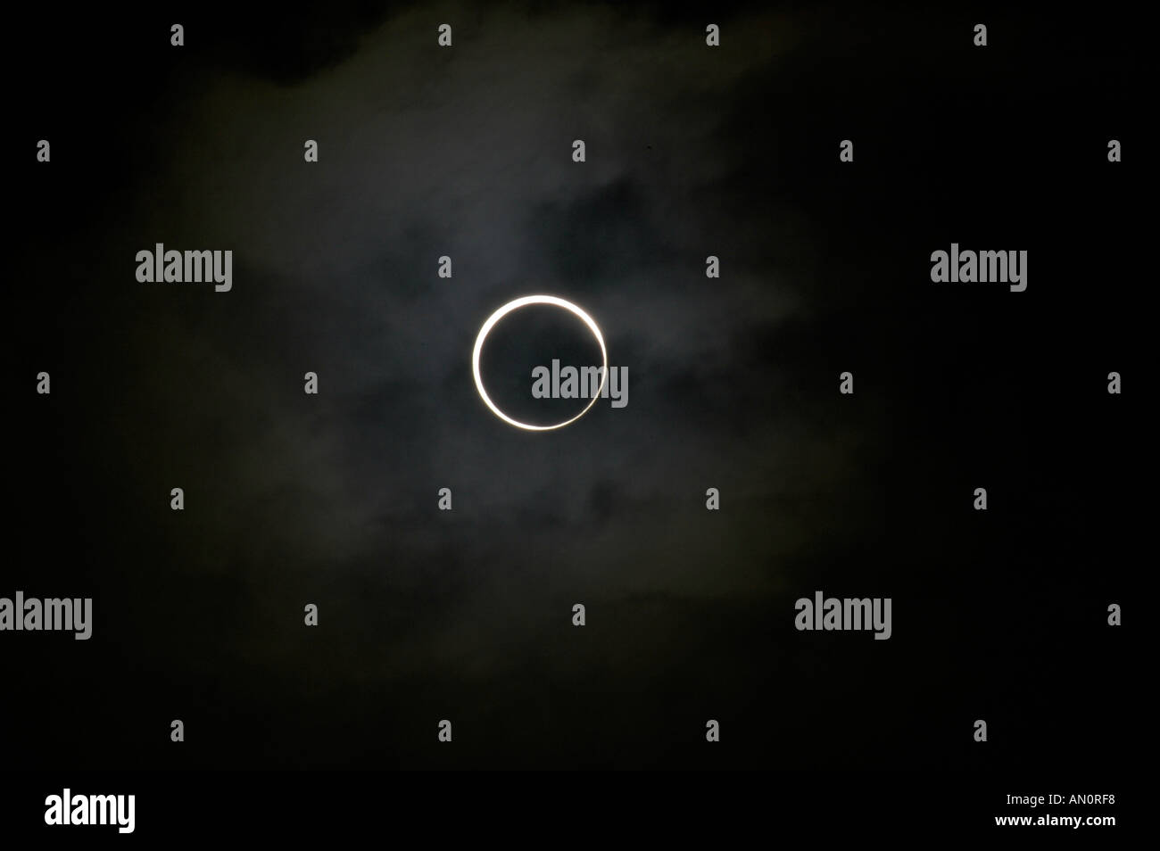 Solar eclipse of the sun by the moon - Stock Image