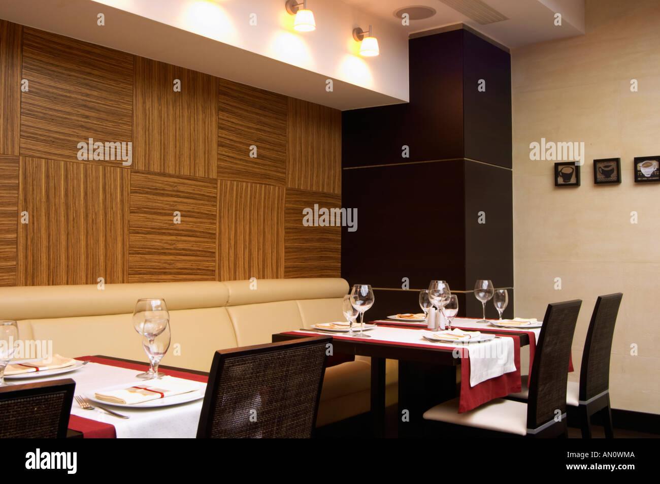 The restaurant Stara Kuca with modern decoration. Podgorica capital ...
