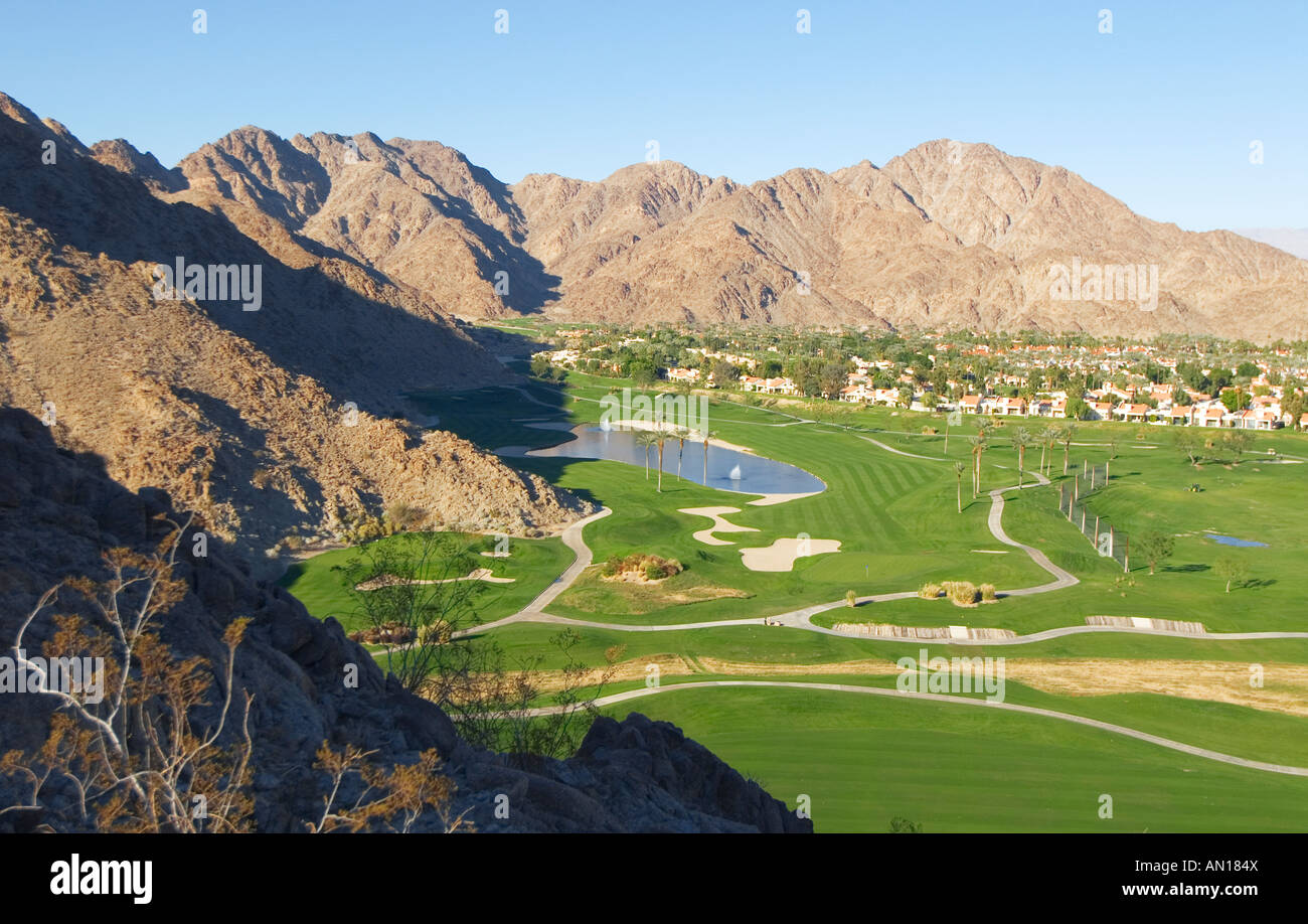 mountain golf course la quinta resort la quinta california stock