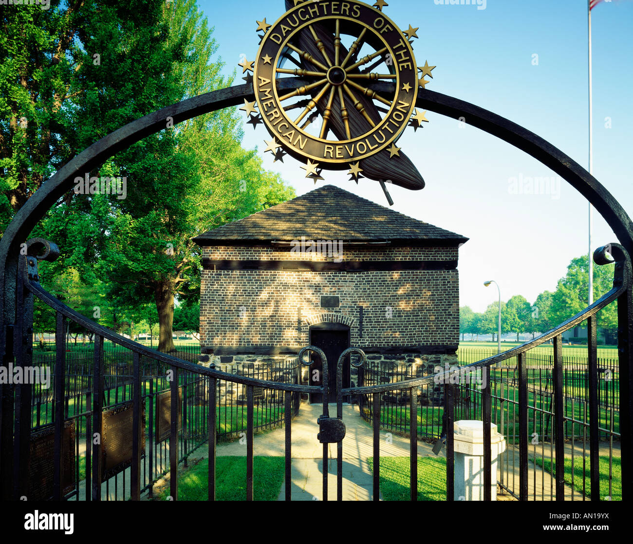 Block House Featured At Fort Pitt, Built 1764 By Col. Henry Boquet; Point Park, Pittsburgh, Pennsylvania, USA Stock Photo