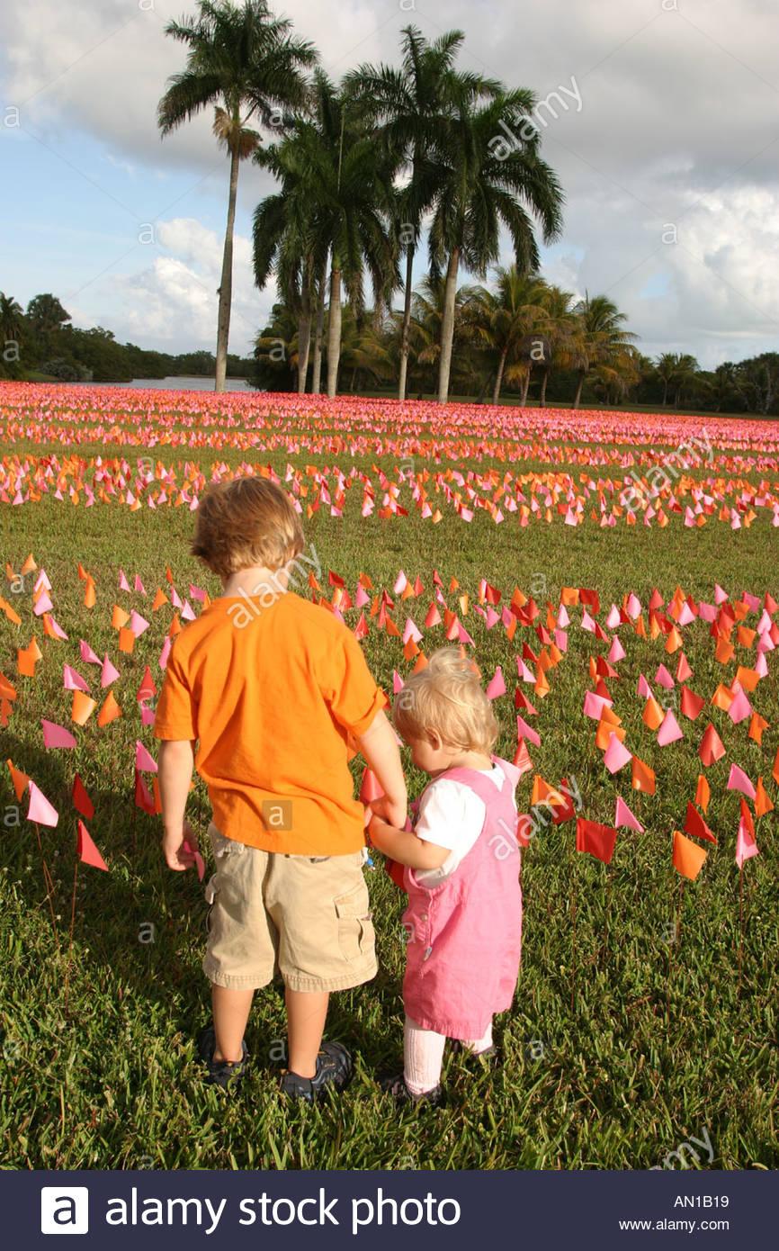 Coral Gables Miami Florida Fairchild Tropical Botanic Garden Flower ...