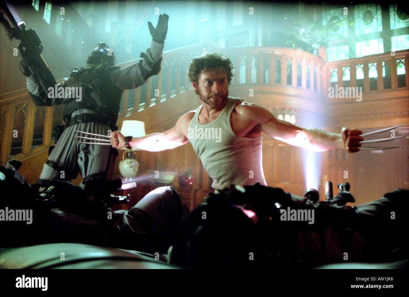 X2 aka X MEN 2 2002 TCF Marvel film with Hugh Jackman - Stock Image