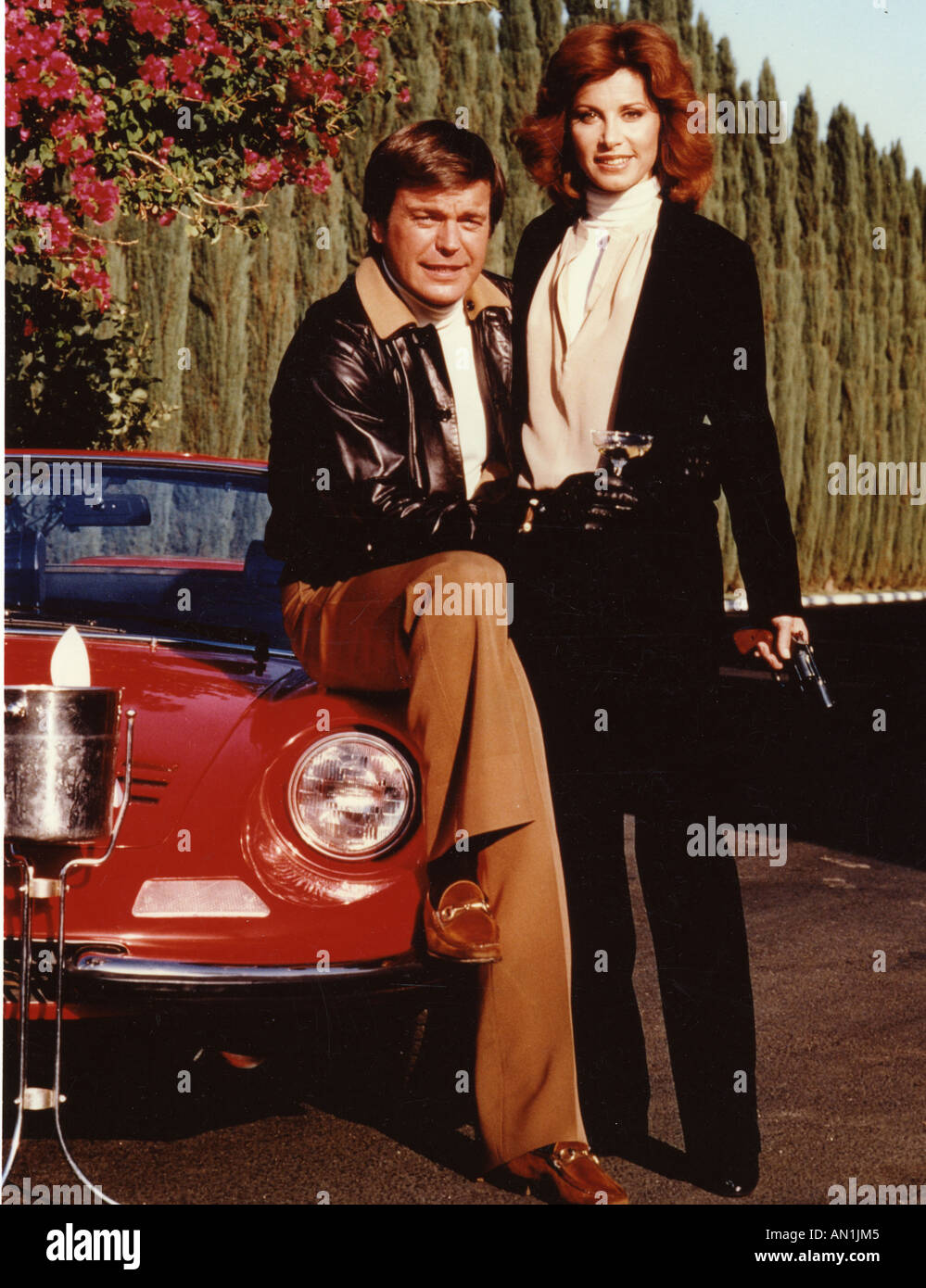 HART TO HART Robert Wagner and Stephanie Powers in the US TV series - Stock Image