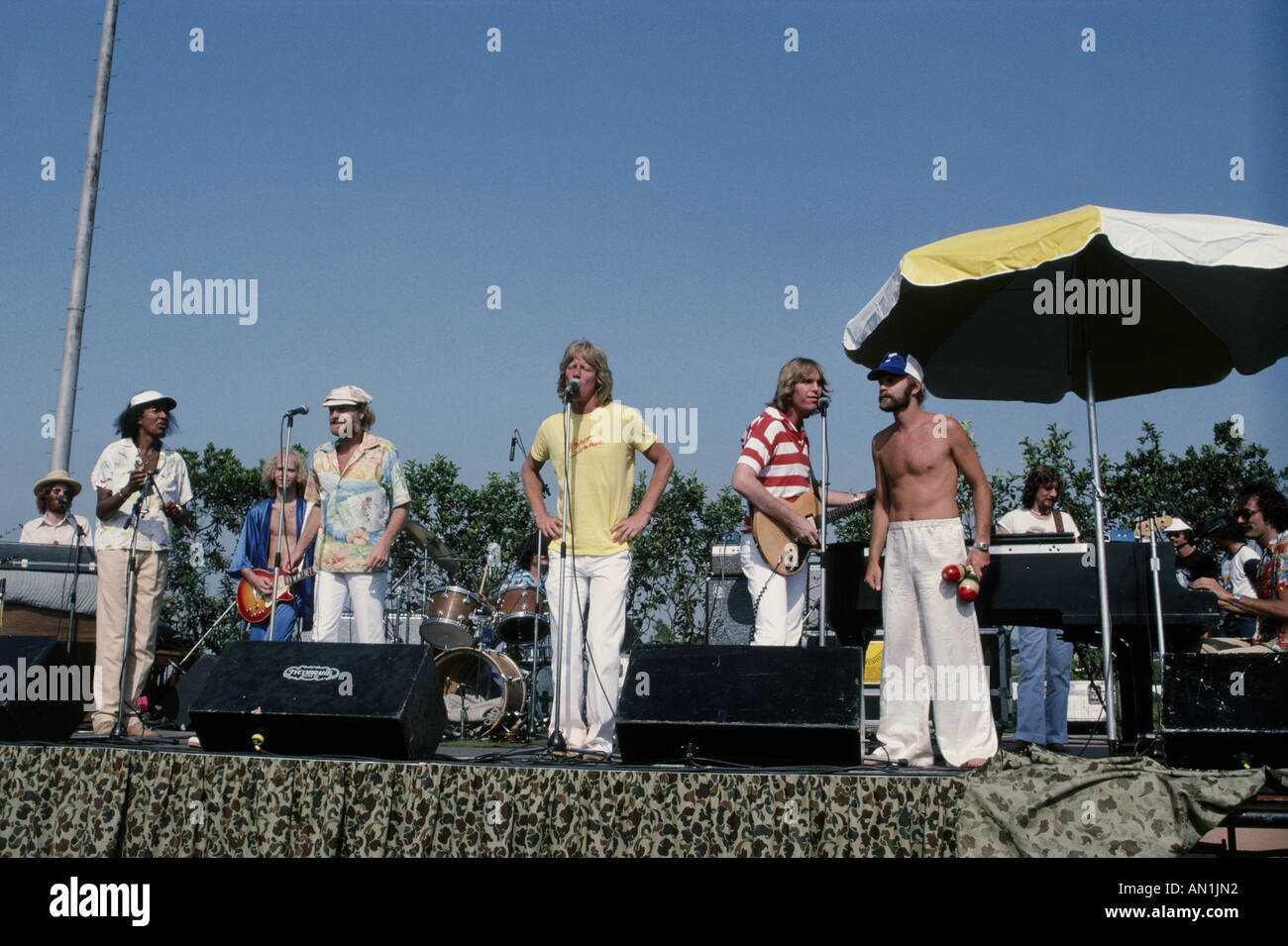 BEACH BOYS US group in June 1978 - Stock Image