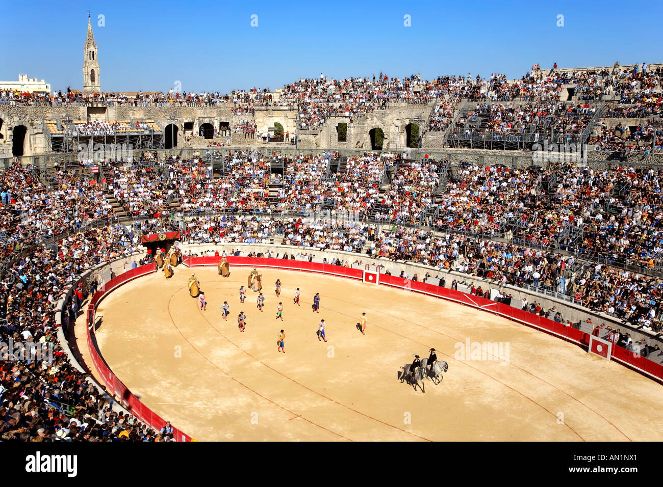 the arena of nimes france stock photo 8790368 alamy. Black Bedroom Furniture Sets. Home Design Ideas