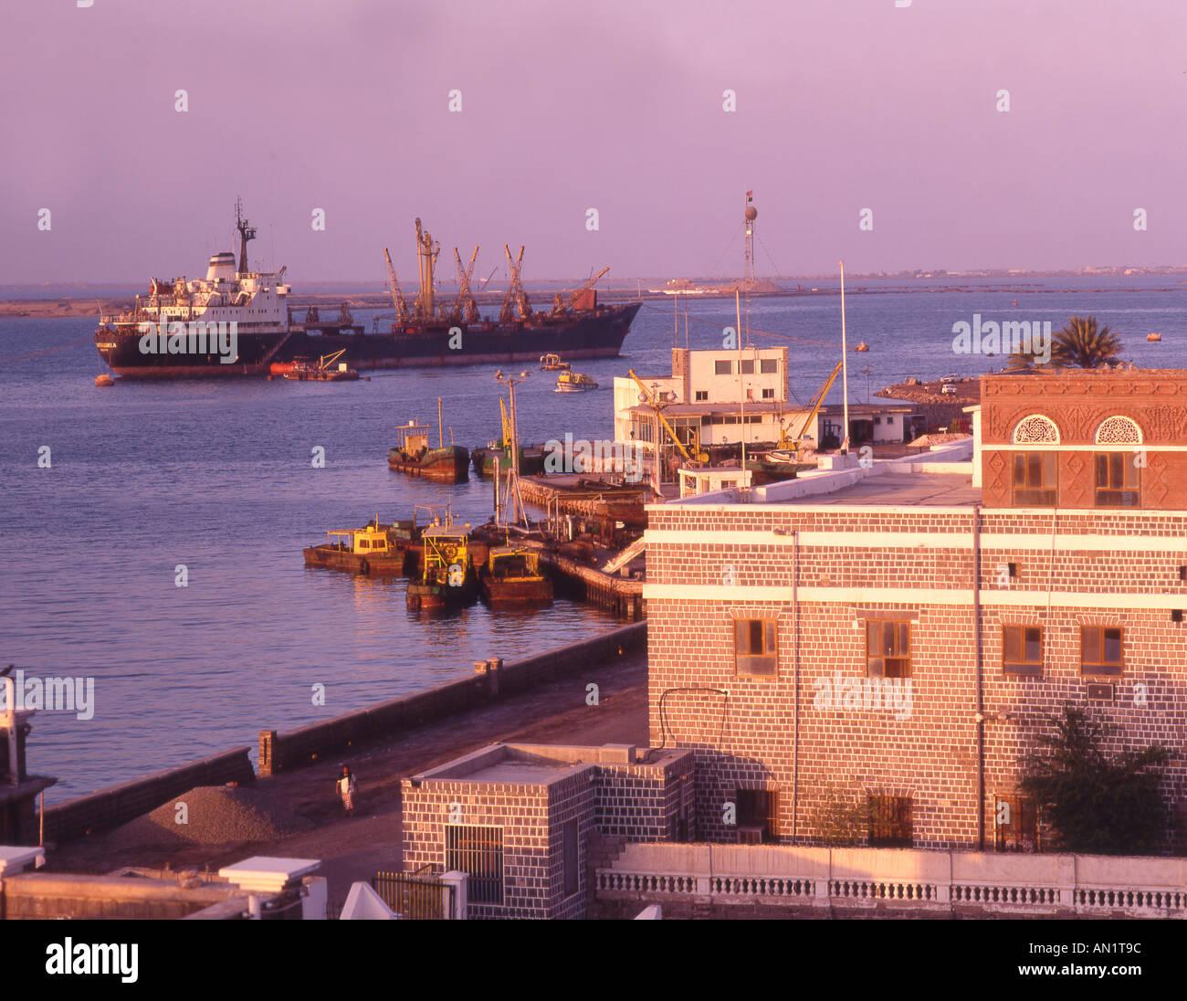 Yemen Aden harbour - Stock Image