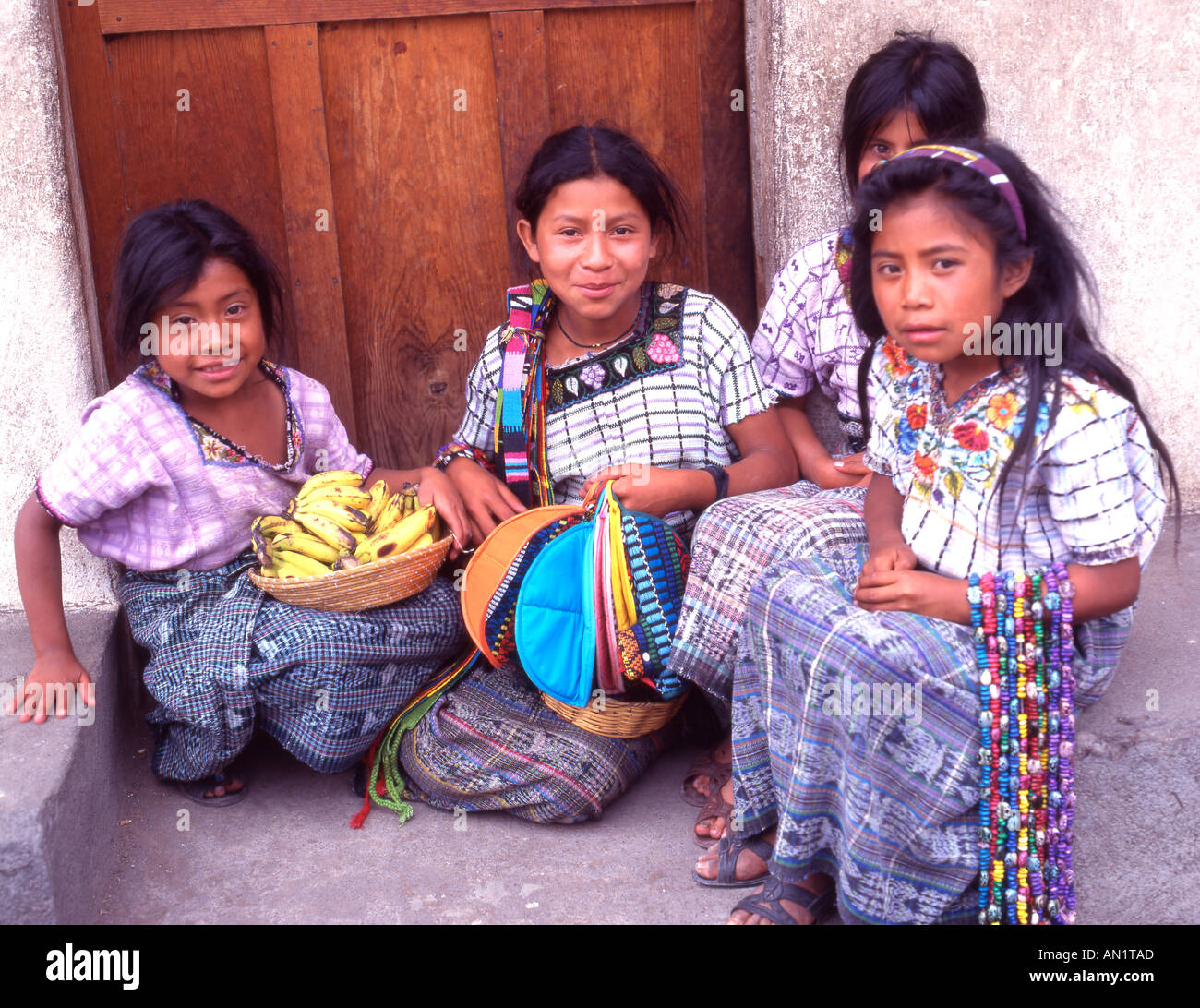 Guatemala indian girls - Stock Image