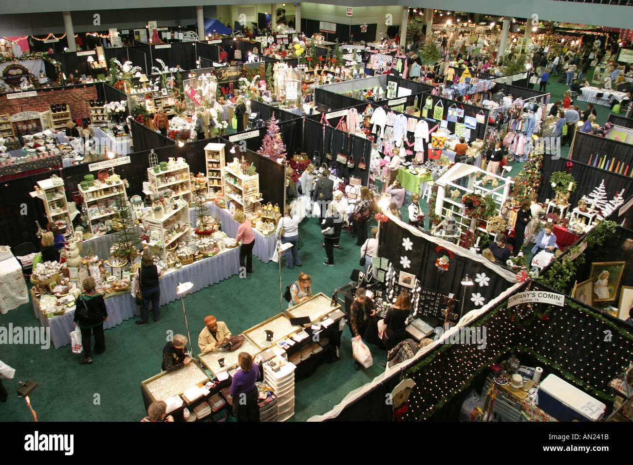 North Carolina, South, Tar Heel State, Wake County, Raleigh Convention Center, centre, shopping shopper shoppers Stock Photo