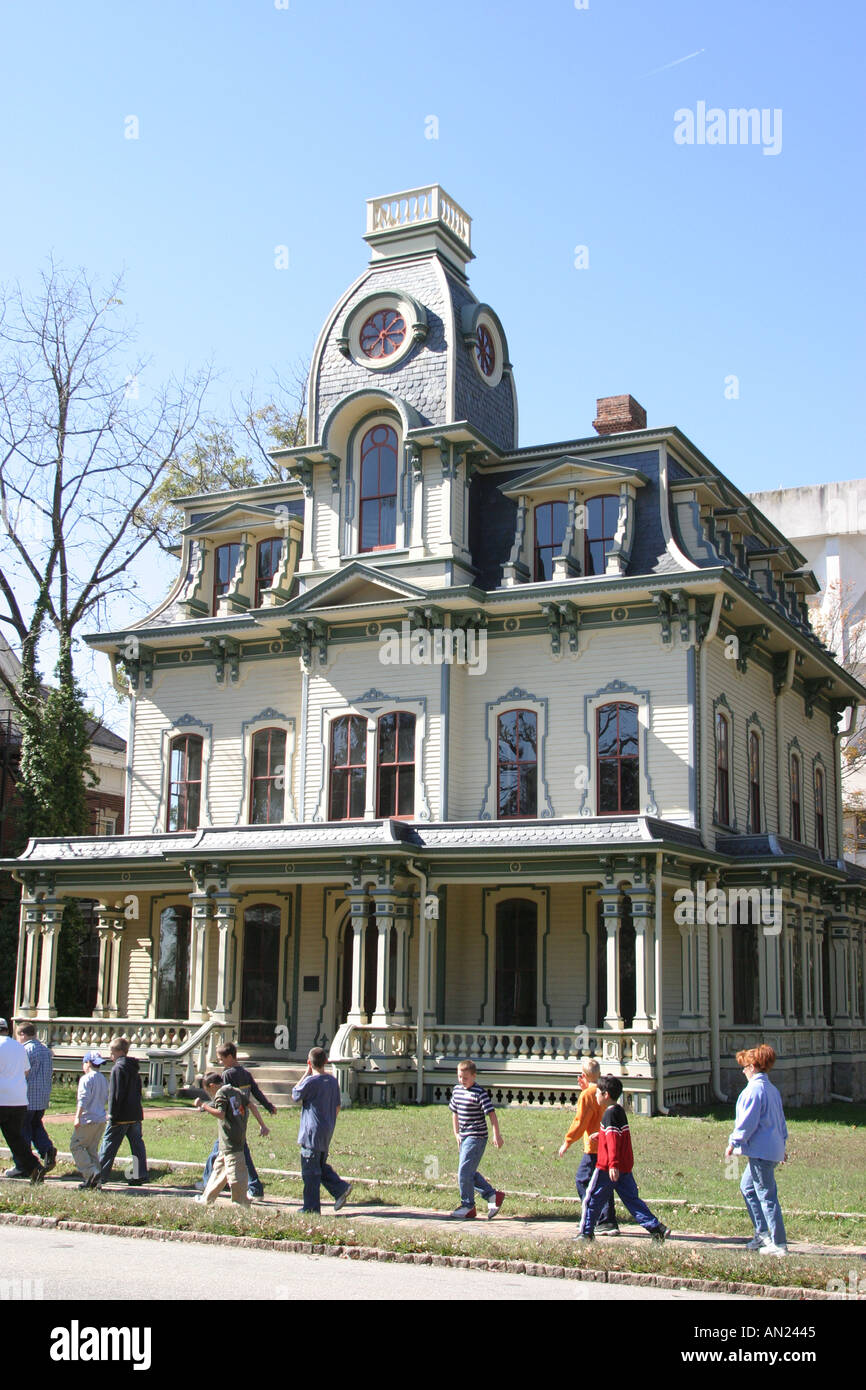 North Carolina, South, Tar Heel State, Wake County, Raleigh, Blount Street, historic Victorian style home, house Stock Photo