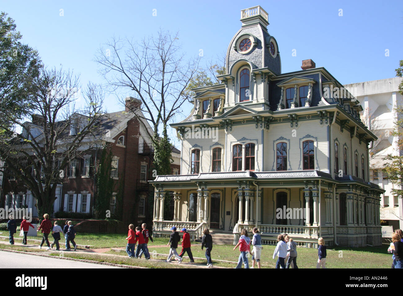 Raleigh North Carolina Blount Street historic Victorian style home Stock Photo