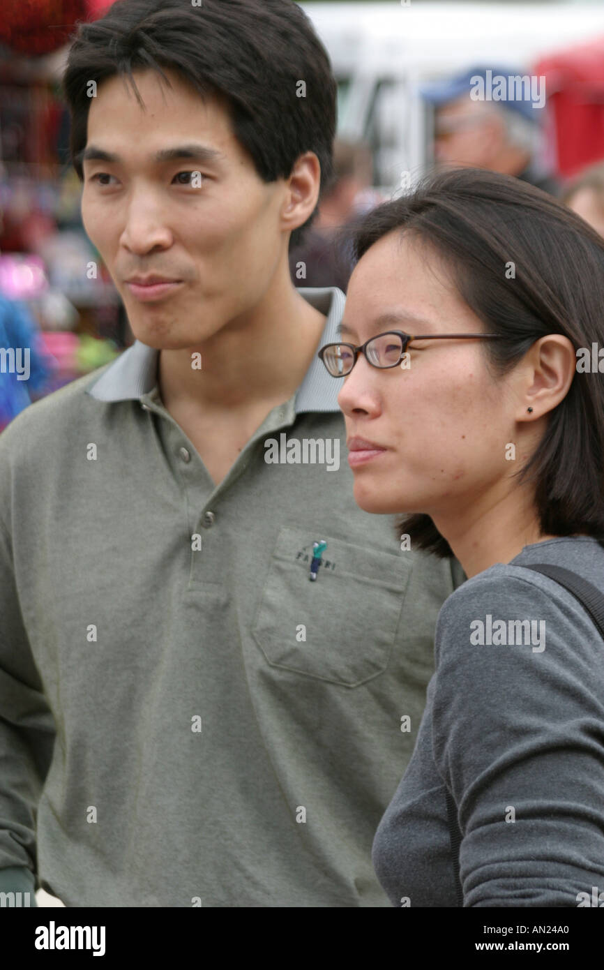 North Carolina, South, Tar Heel State, Wake County, Raleigh, North Carolina State Fair, Asian Asians ethnic ethnics Stock Photo