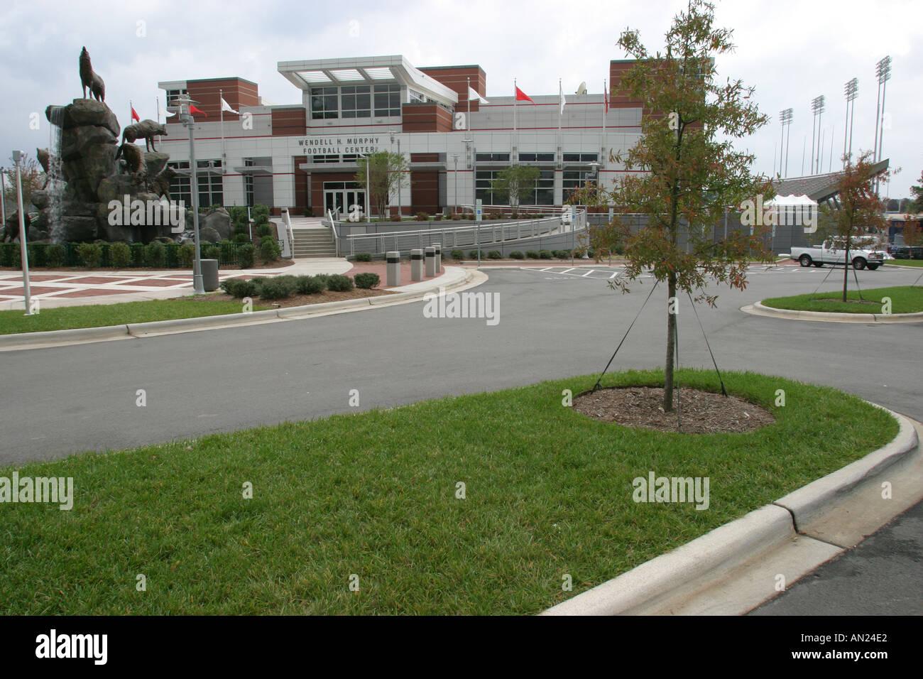 North Carolina, South, Tar Heel State, Wake County, Raleigh, Carter Finley Stadium, home, residence, house home Stock Photo