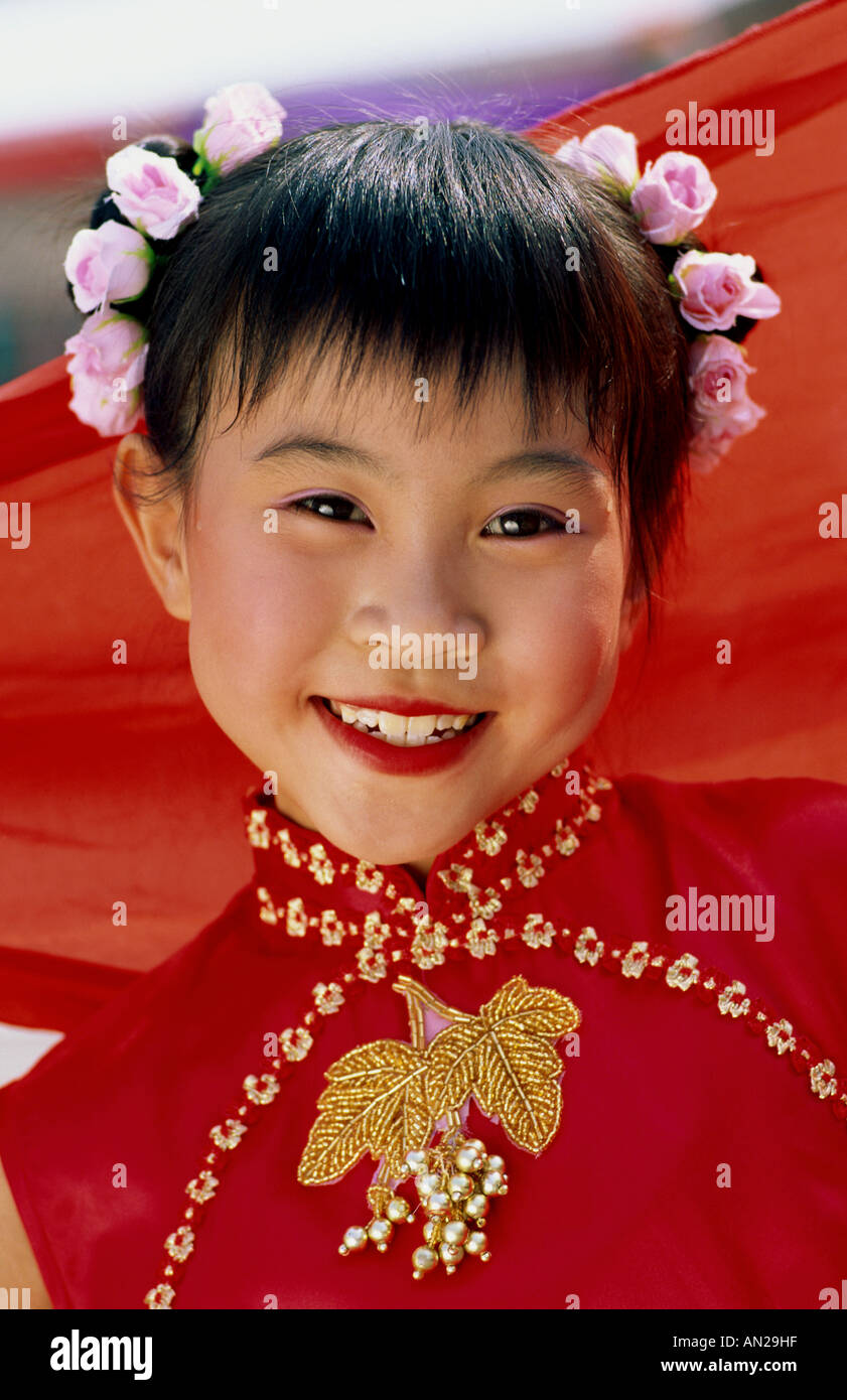 e165dfcdc Young Girl / Child in Traditional Chinese Dress (Cheongsam) / Portrait,  Beijing, China