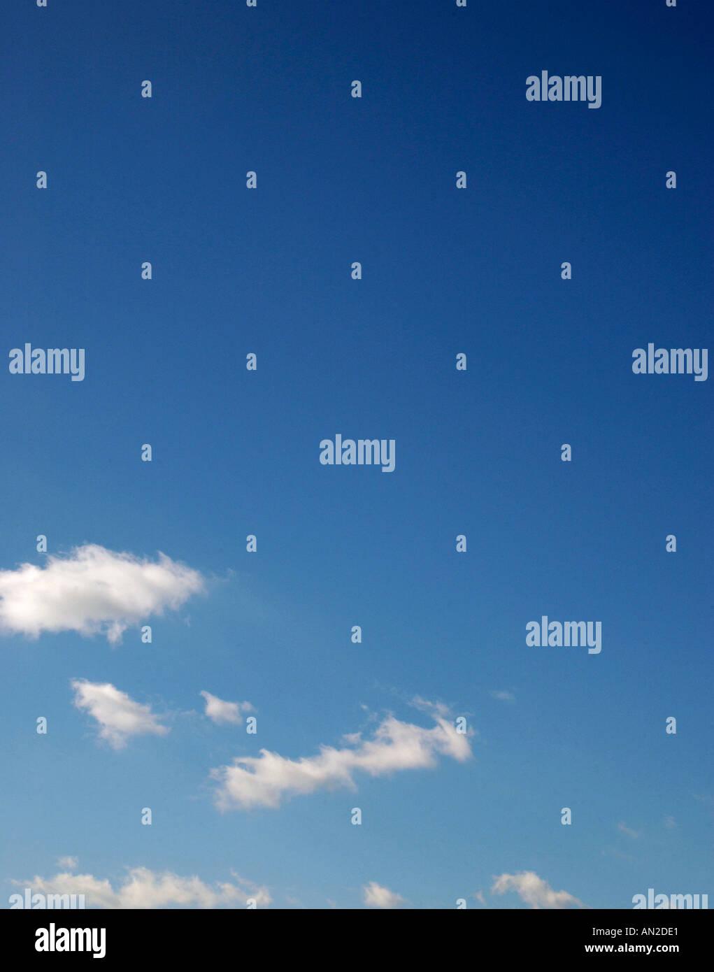 Carolina blue sky background USA - Stock Image