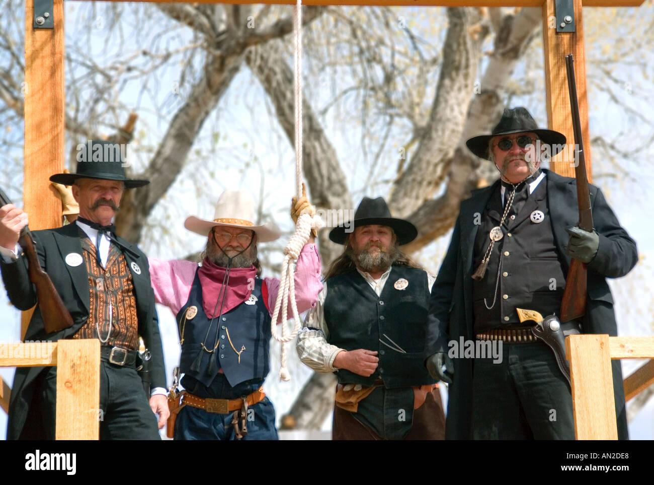 Hangmen at Tombstone Arizona - Stock Image