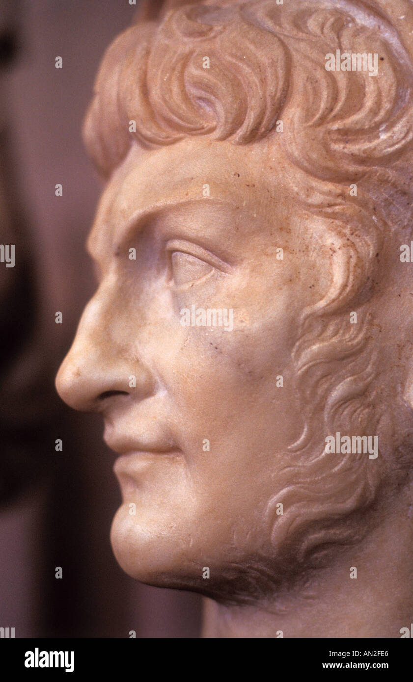 Statue of Nero in Ancient Corinth Museum (Greece) - Stock Image