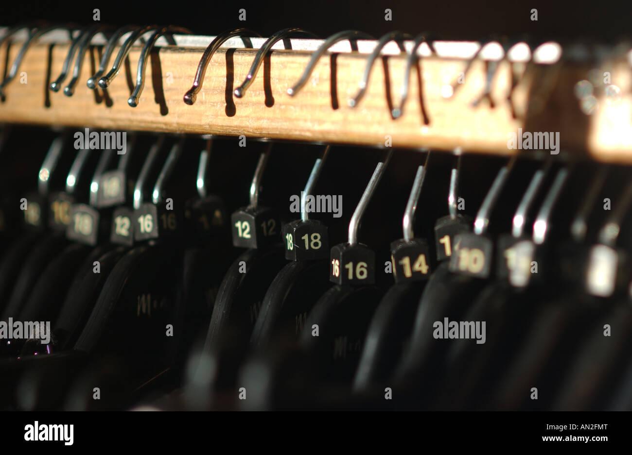 Hangers On Rail - Stock Image
