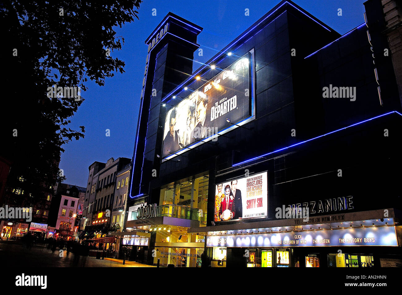 Leicester Square at Night - Stock Image