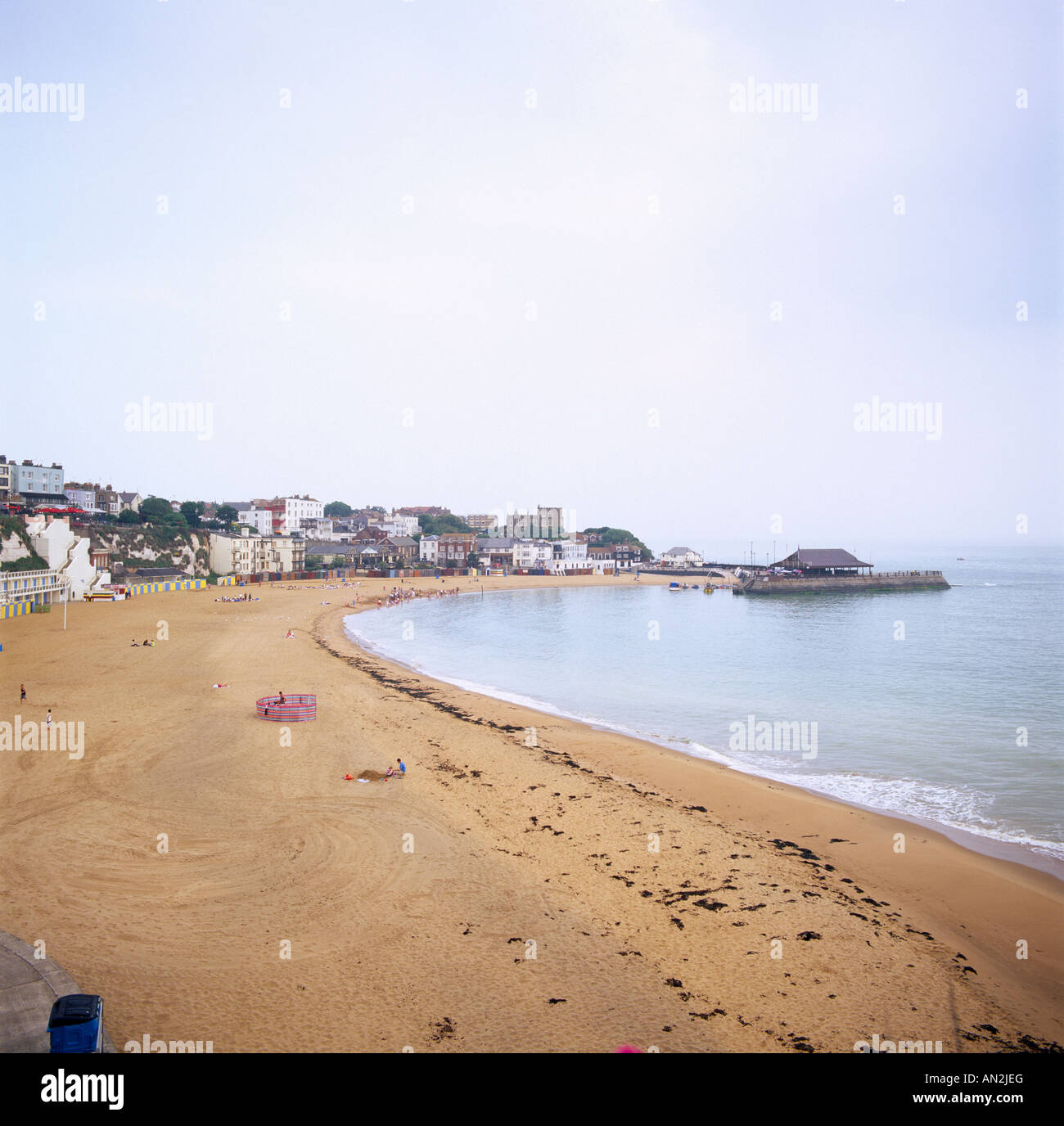 Viking Bay in Broadstairs in Thanet in Kent in England in Great Britain in the United Kingdom UK. - Stock Image