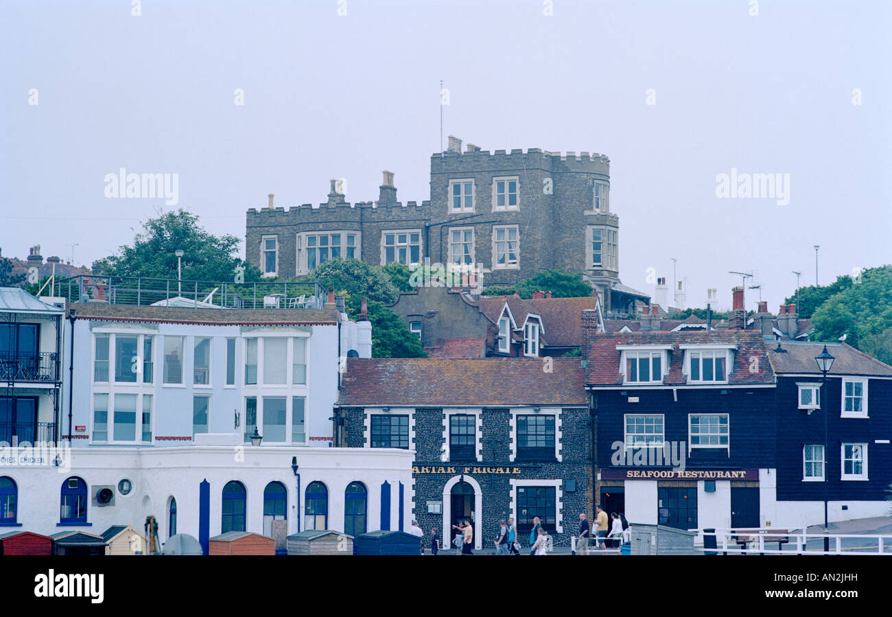 Bleak House in Broadstairs in Thanet in Kent in England in Great Britain in the United Kingdom UK. Charles Dickens - Stock Image