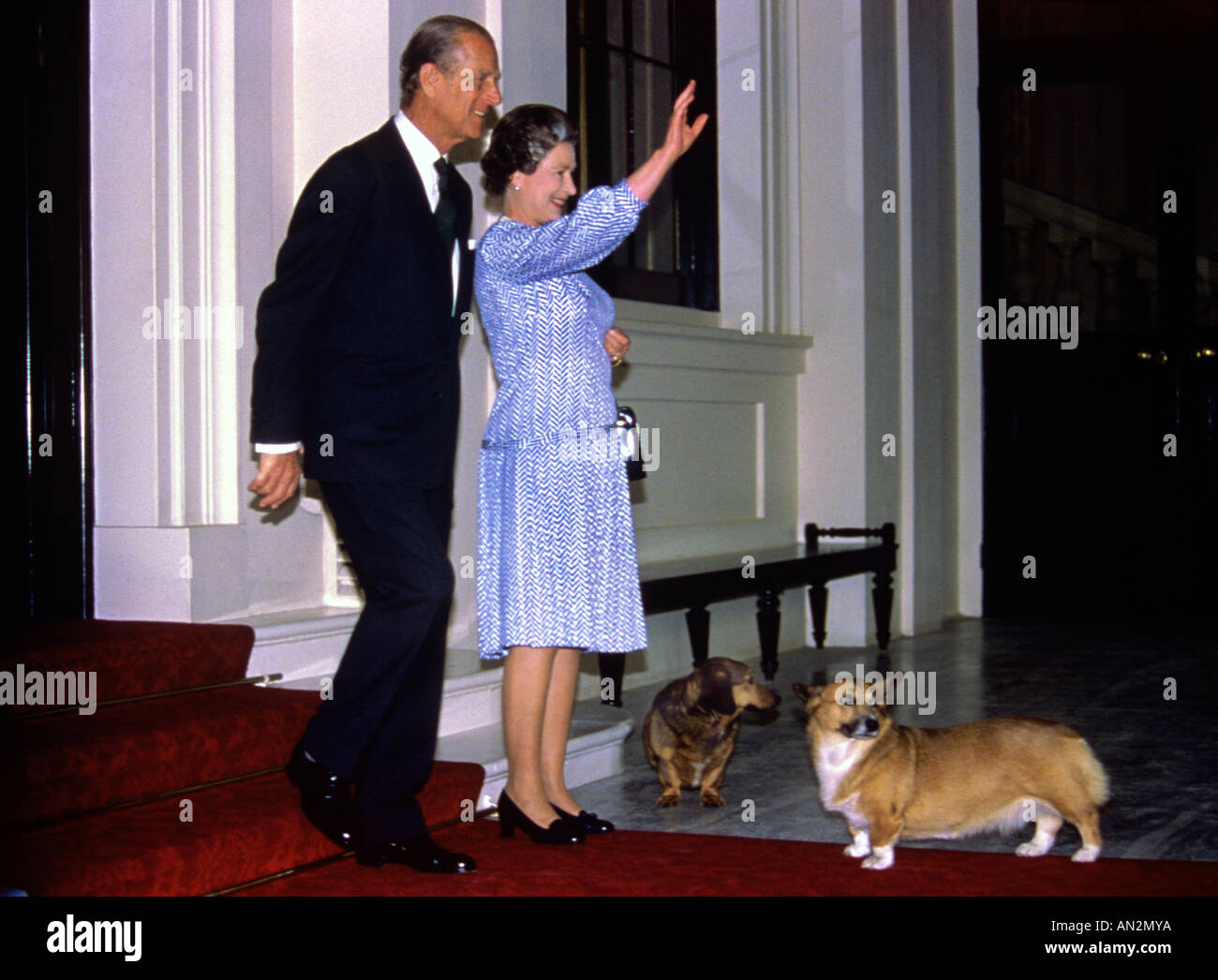 queen-elizabeth-and-prince-philip-with-corgi-dogs-at-buckingham-palace-AN2MYA.jpg