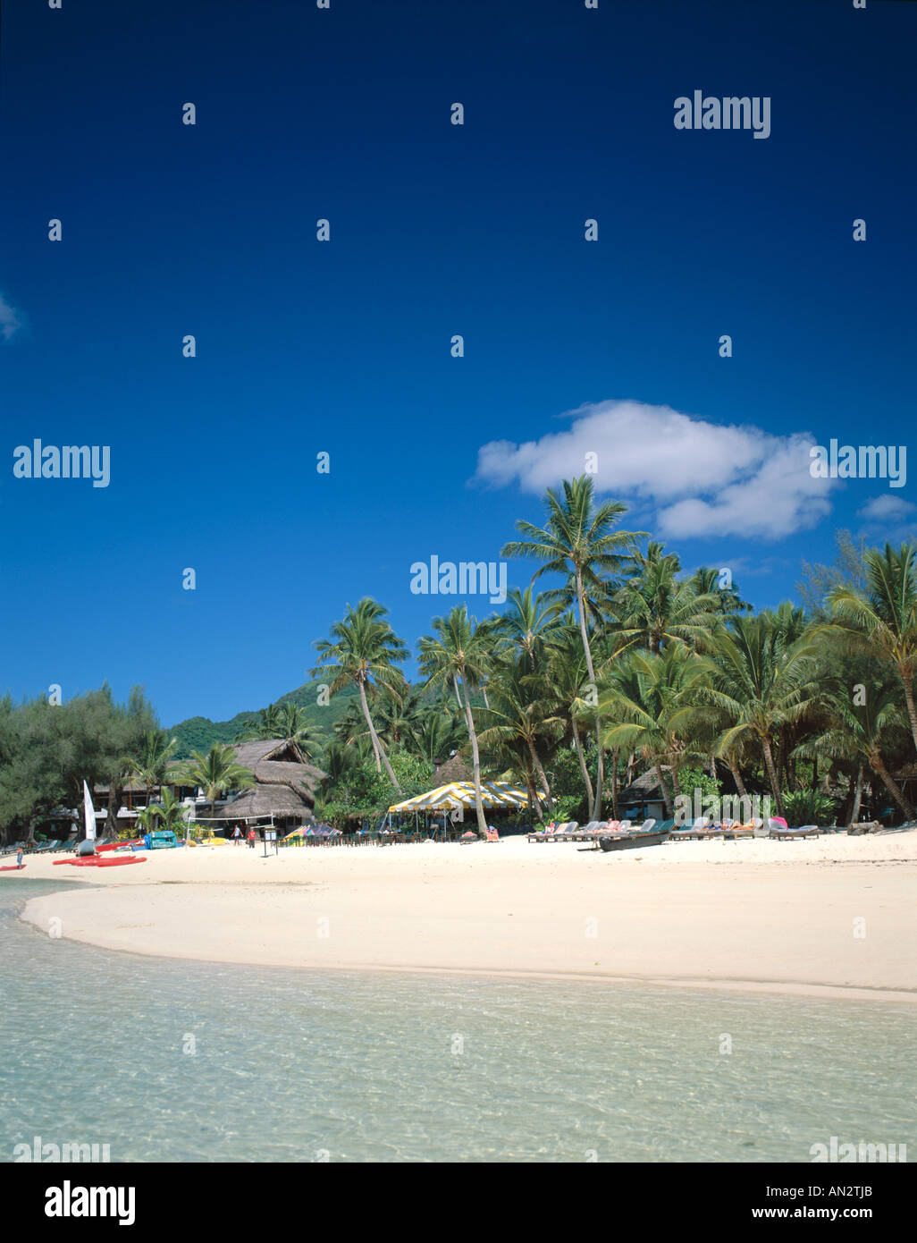 Muri Beach, Rarotonga, Polynesia / South Pacific, Cook Islands - Stock Image