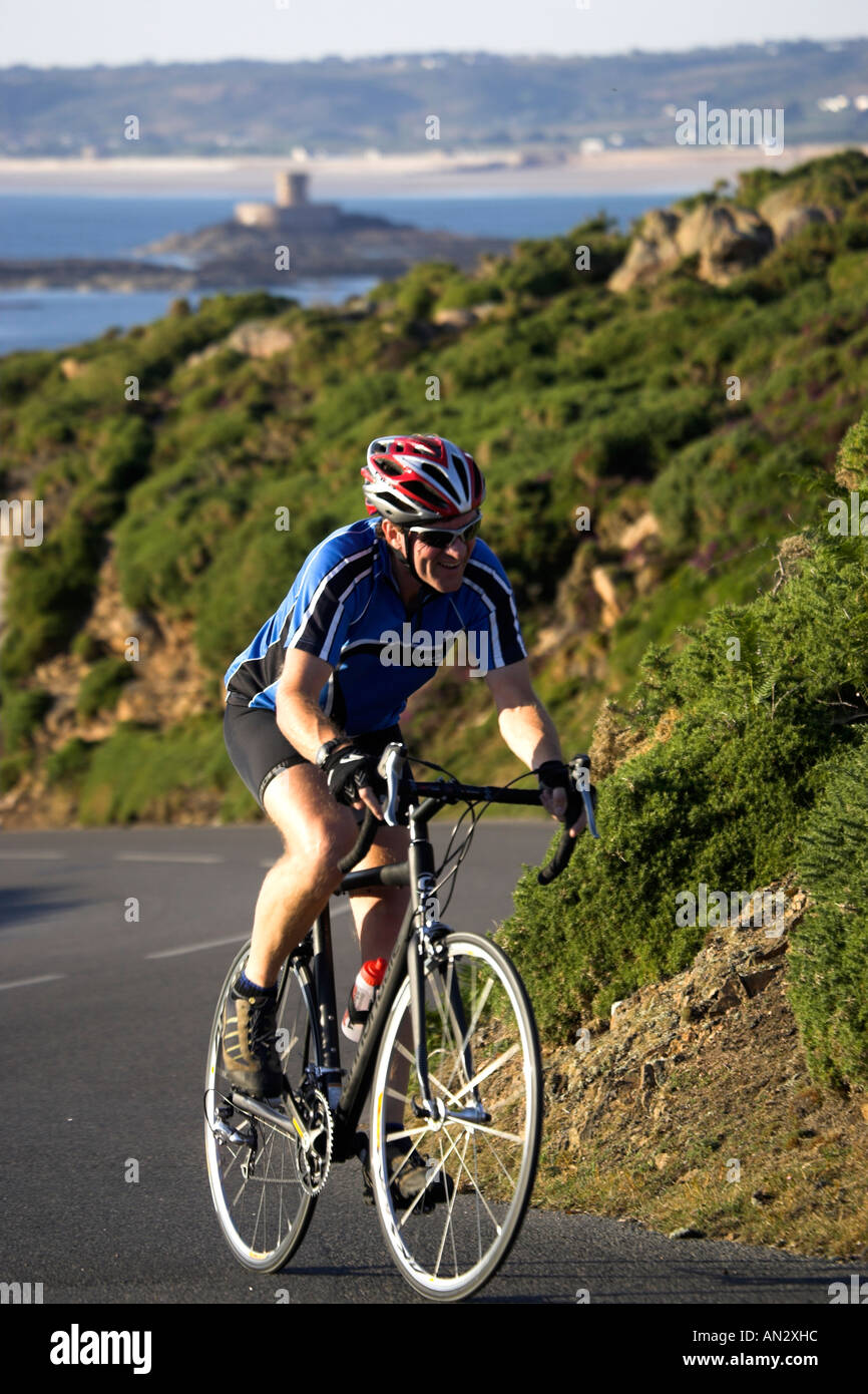 Jersey ,Channel Islands UK Great Britain UK GB Road Race - Stock Image