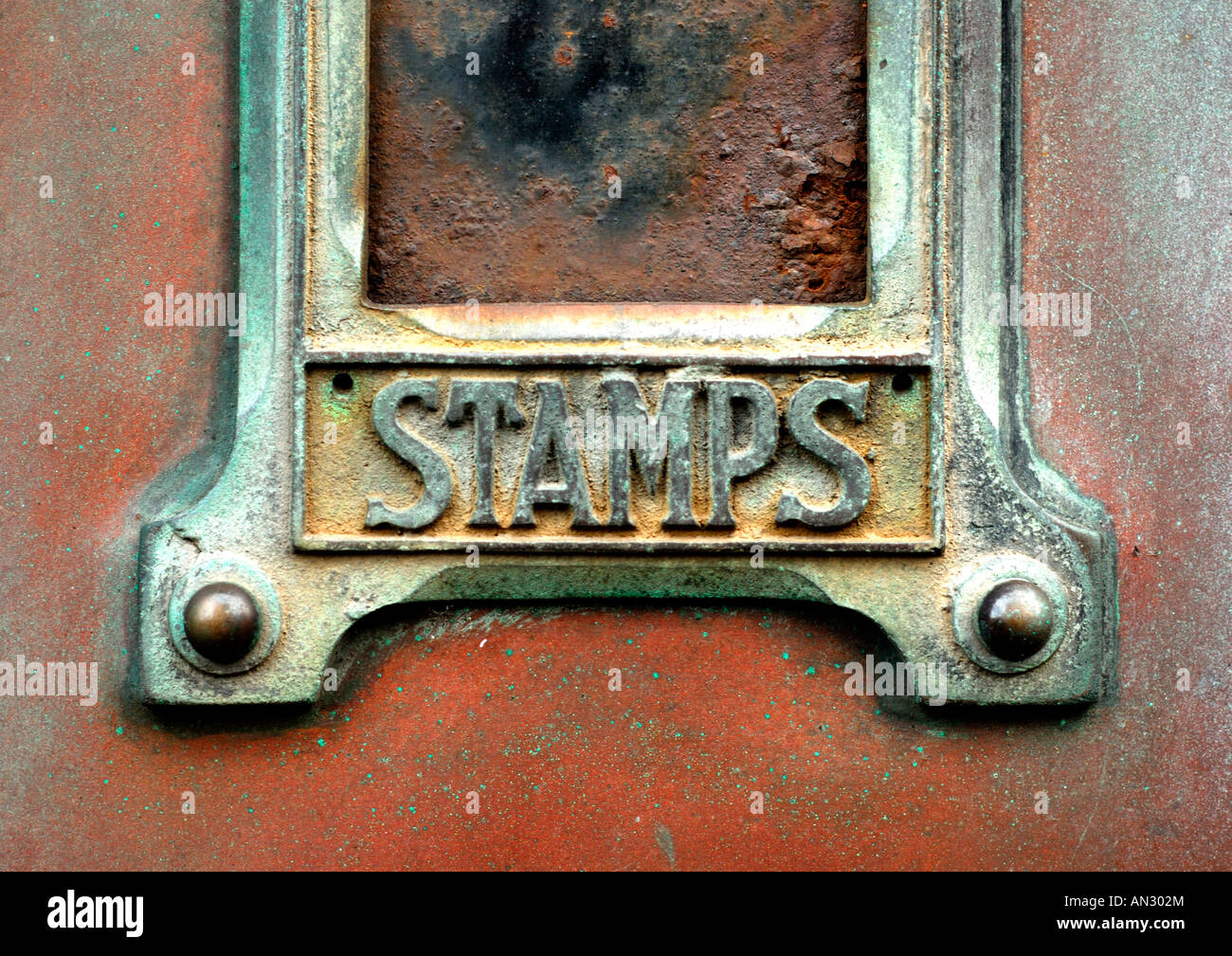 A Stamp Vending Machine Svm Sits Boarded Up Outside A