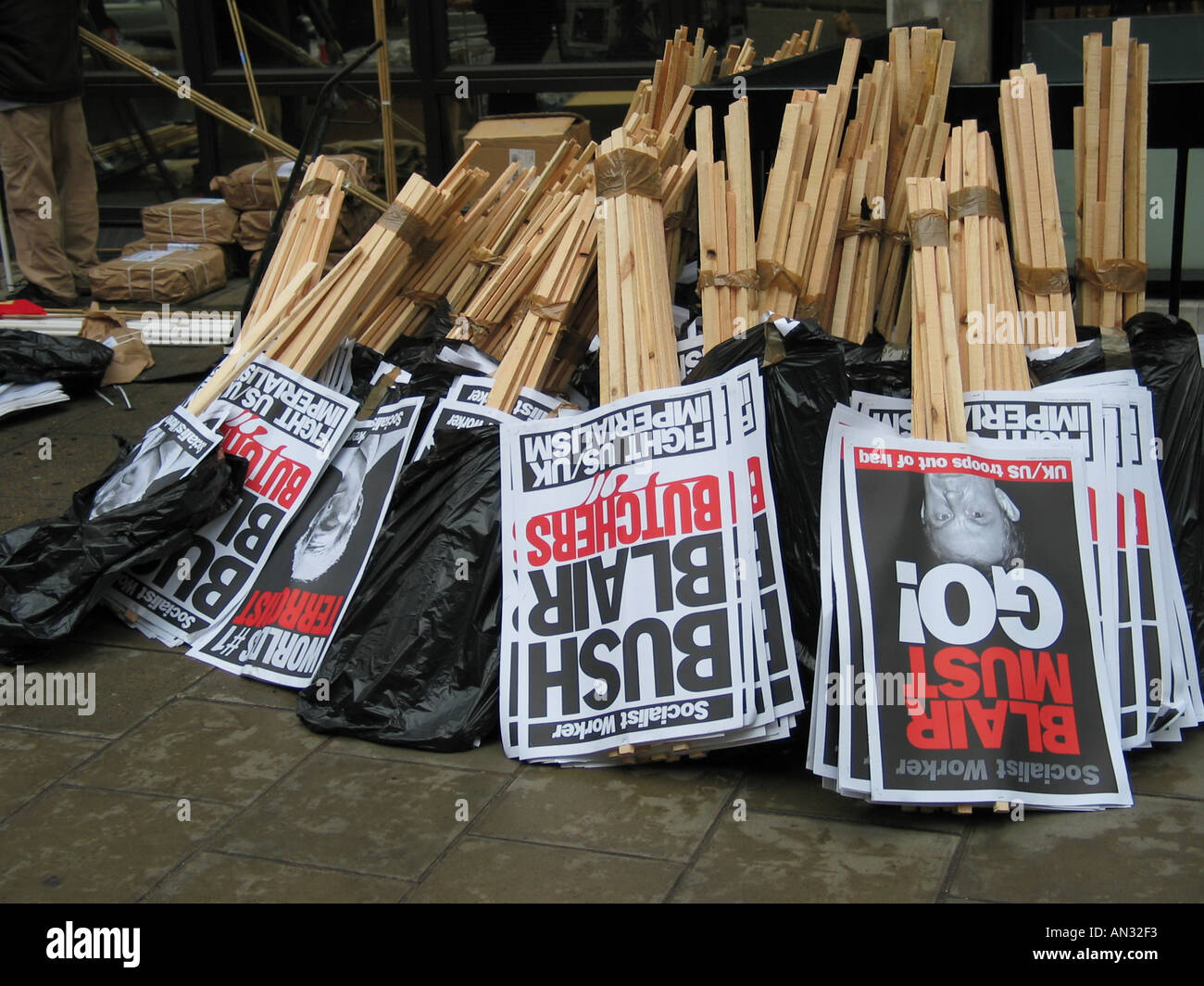 Placards - Stock Image