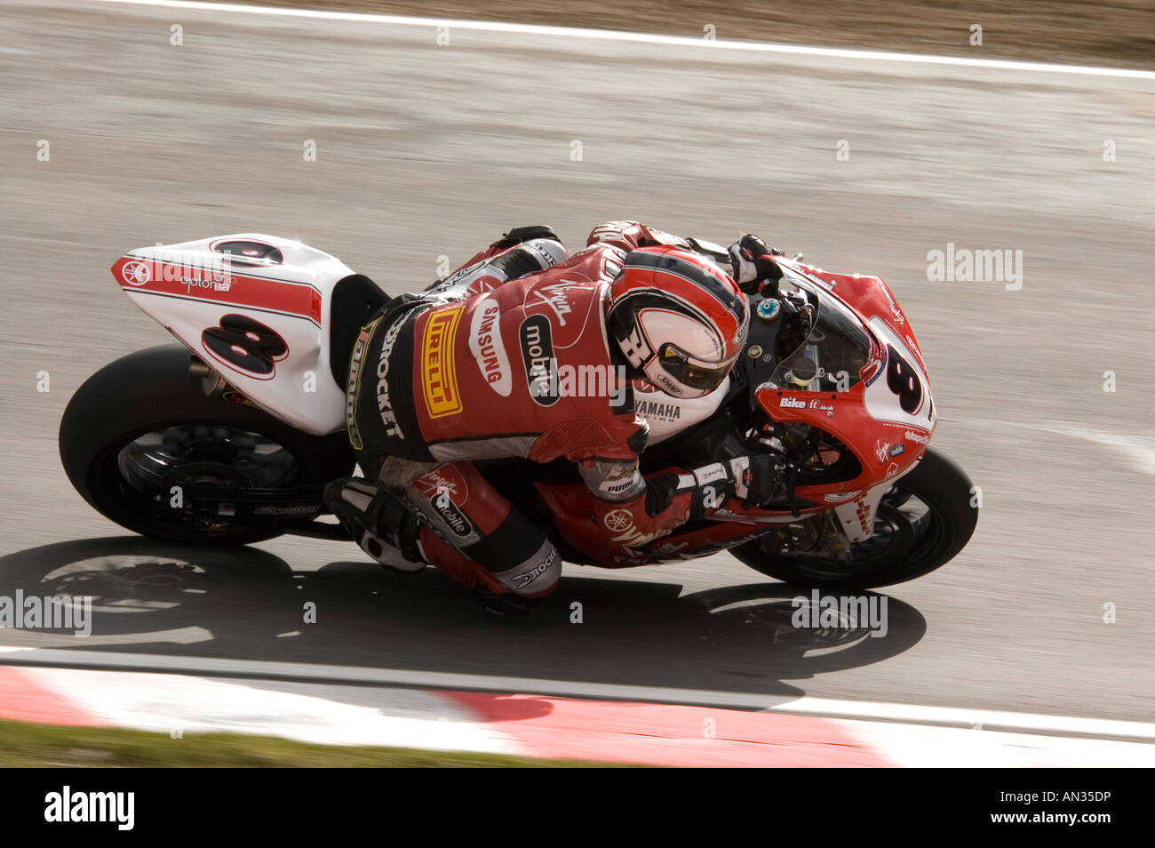 0dfc0b7b Tommy Hill British Superbike Racer at Brands Hatch 2006 - Stock Image