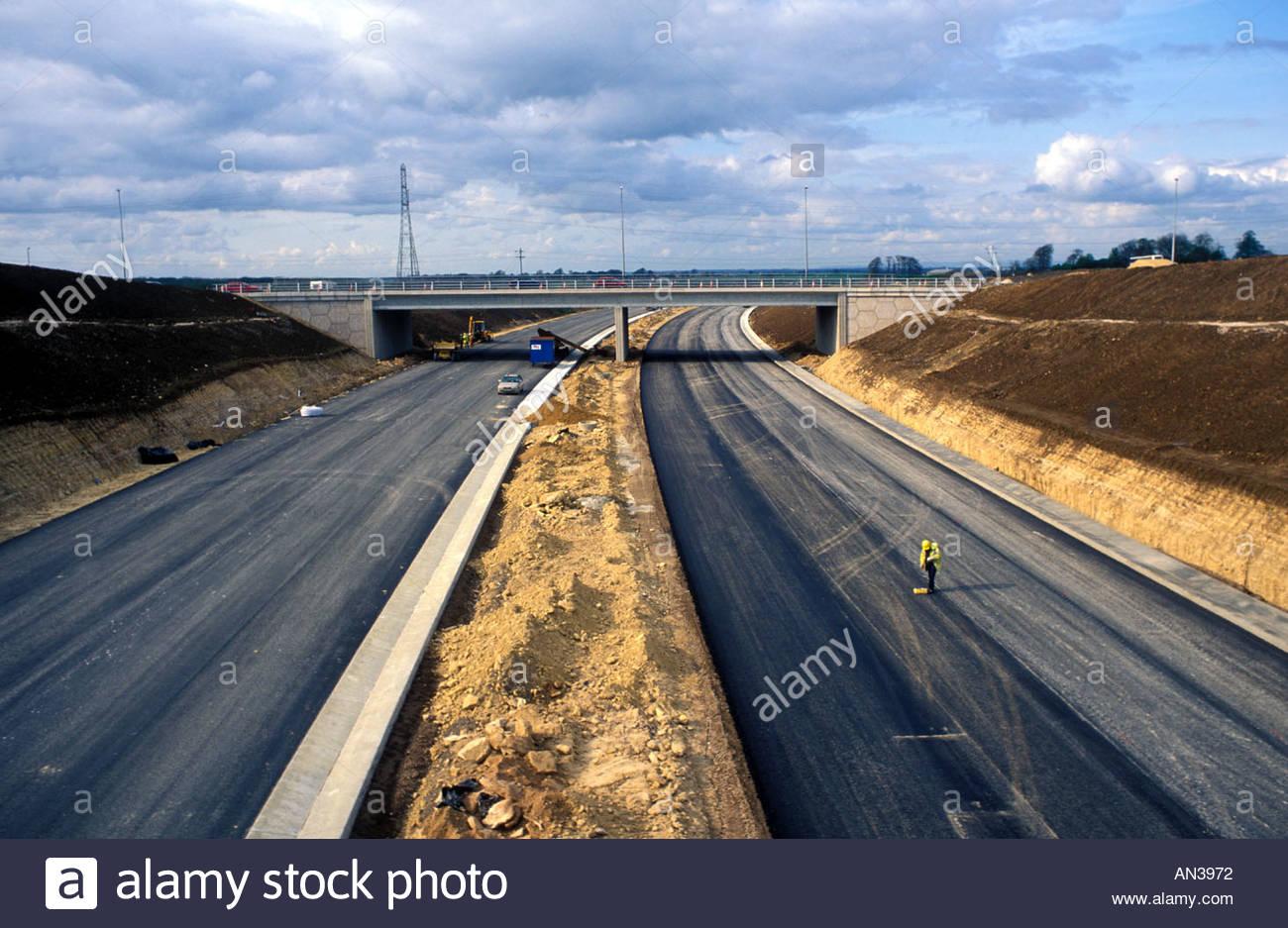 Construction of A1 M1 link road Garforth Leeds UK Stock Photo