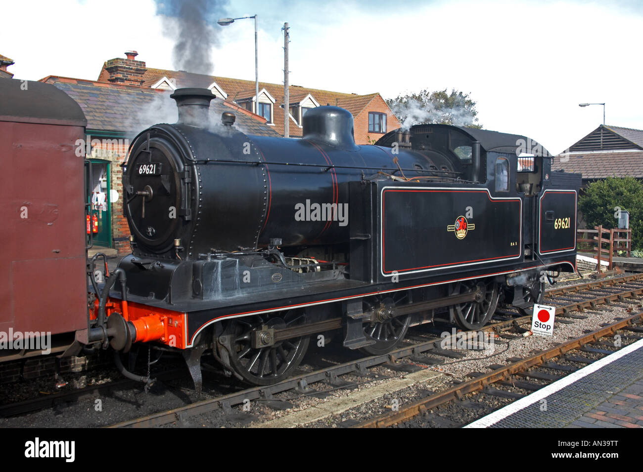 Stean locomotive British Rail number 69621 0-6-2 tank engine Stock ...