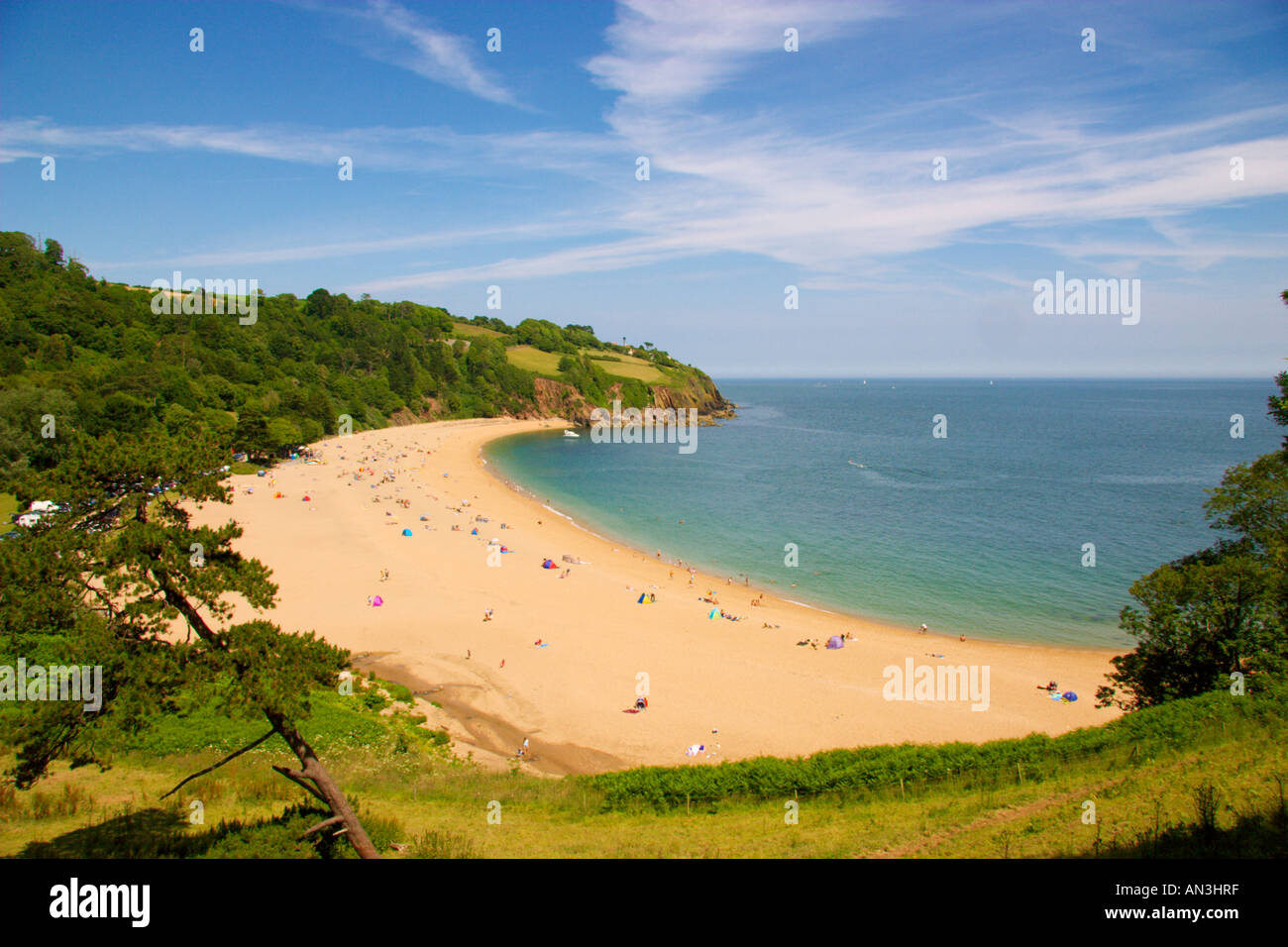 Blackpool Sands, Devon, UK - Stock Image