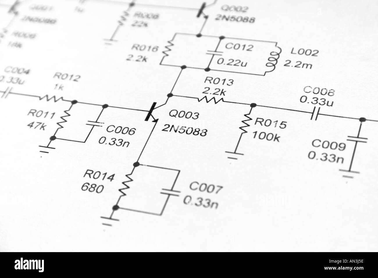 Electronic Schematic Stock Photos Wire Wiring Diagram Delco Cs Alternator Imgs 96806 Close Up Of Electronics Photo 5027421 Alamy Rh Com Components Simple