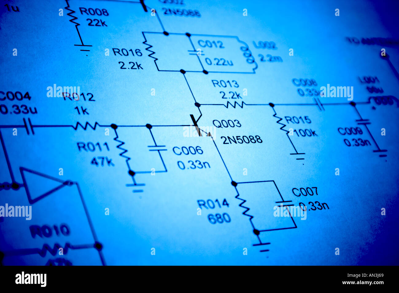Diagram Electronics Schematic Circuit Stock Photos Electronic Board Diagrams Close Up Of Image