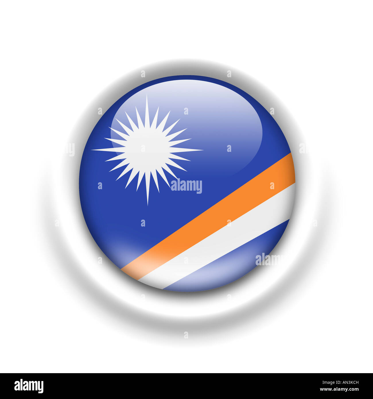 Flag of The Marshall Islands - Stock Image