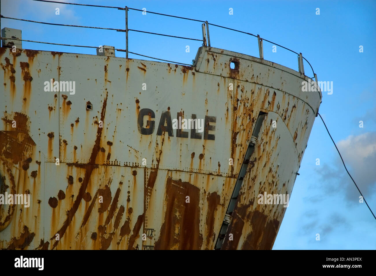 Wreck RFA Galle Portsmouth Harbour Hampshire England UK Stock Photo