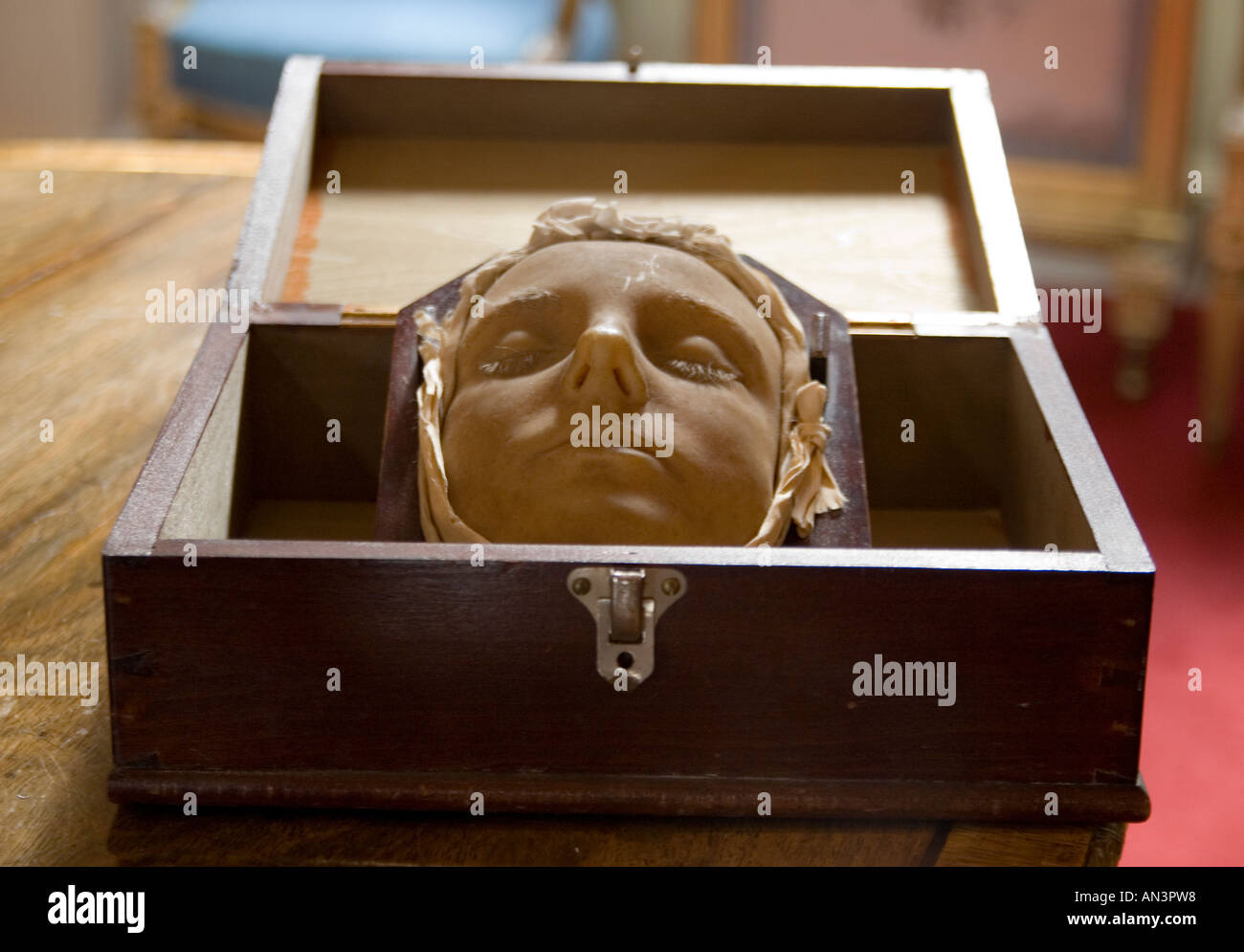 Mary Queen of the Scots death mask - Stock Image