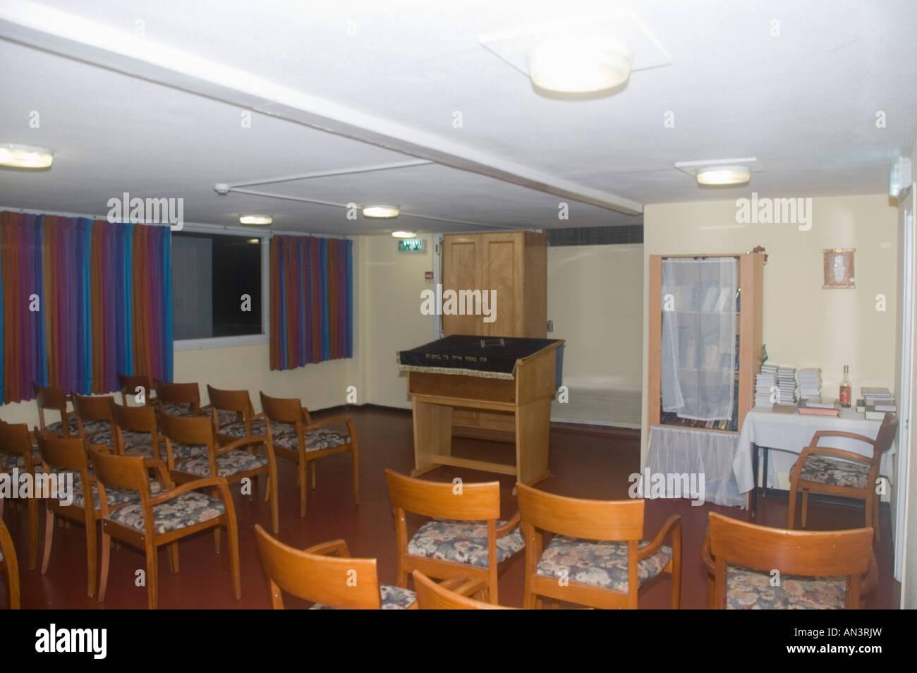 Interior of a Small Synagogue Nof Ginosar hotel Israel December 2007 - Stock Image