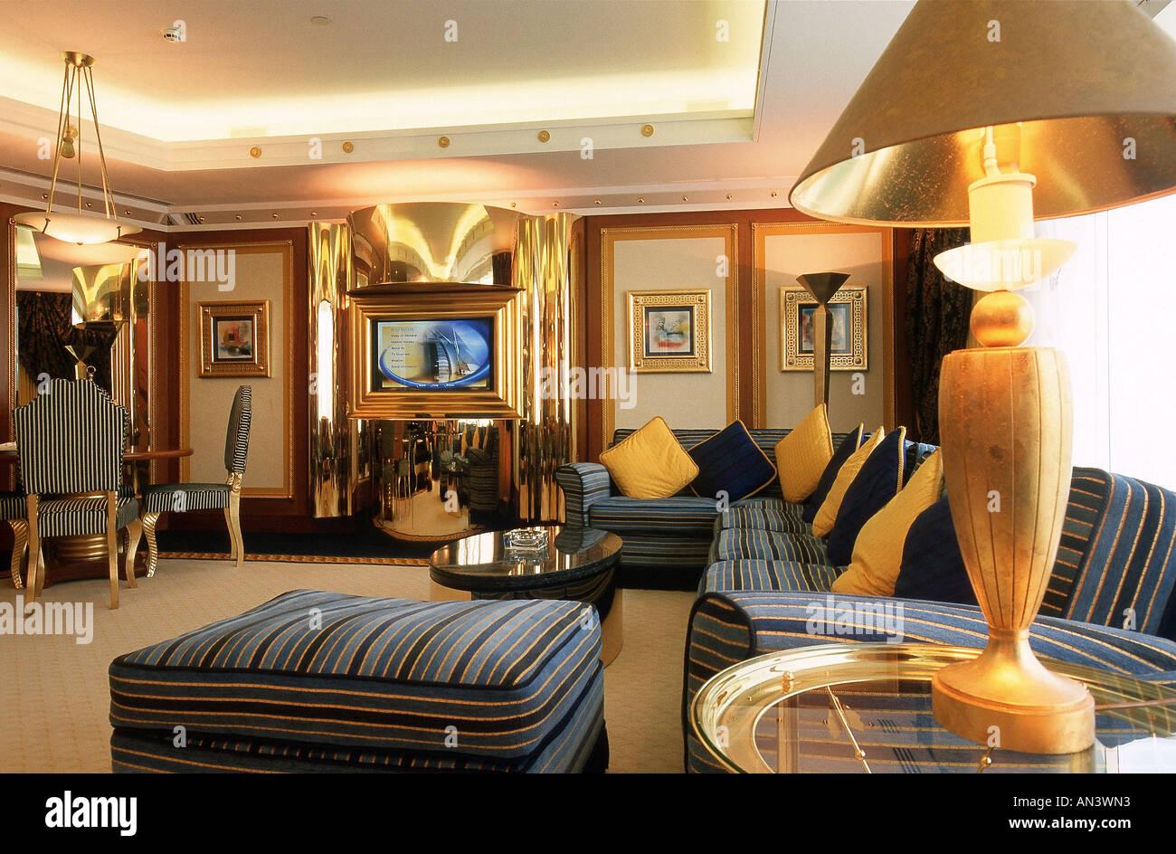 ARE, United Arab Emirates, Dubai, 31.10.2005 : 7 Star Luxury Hotel Burj Al  Arab. Normal Suite