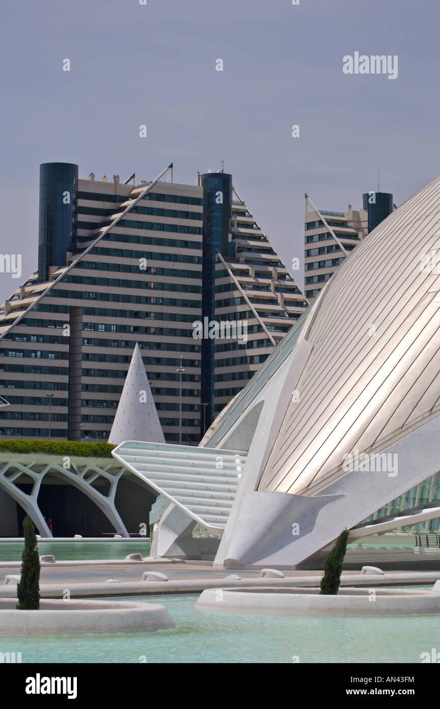 L'Hemisferic (IMAX) at the Ciutat de les Arts I de Les Ciencies complex, Ciudad de las Artes y las Ciencias - Stock Image