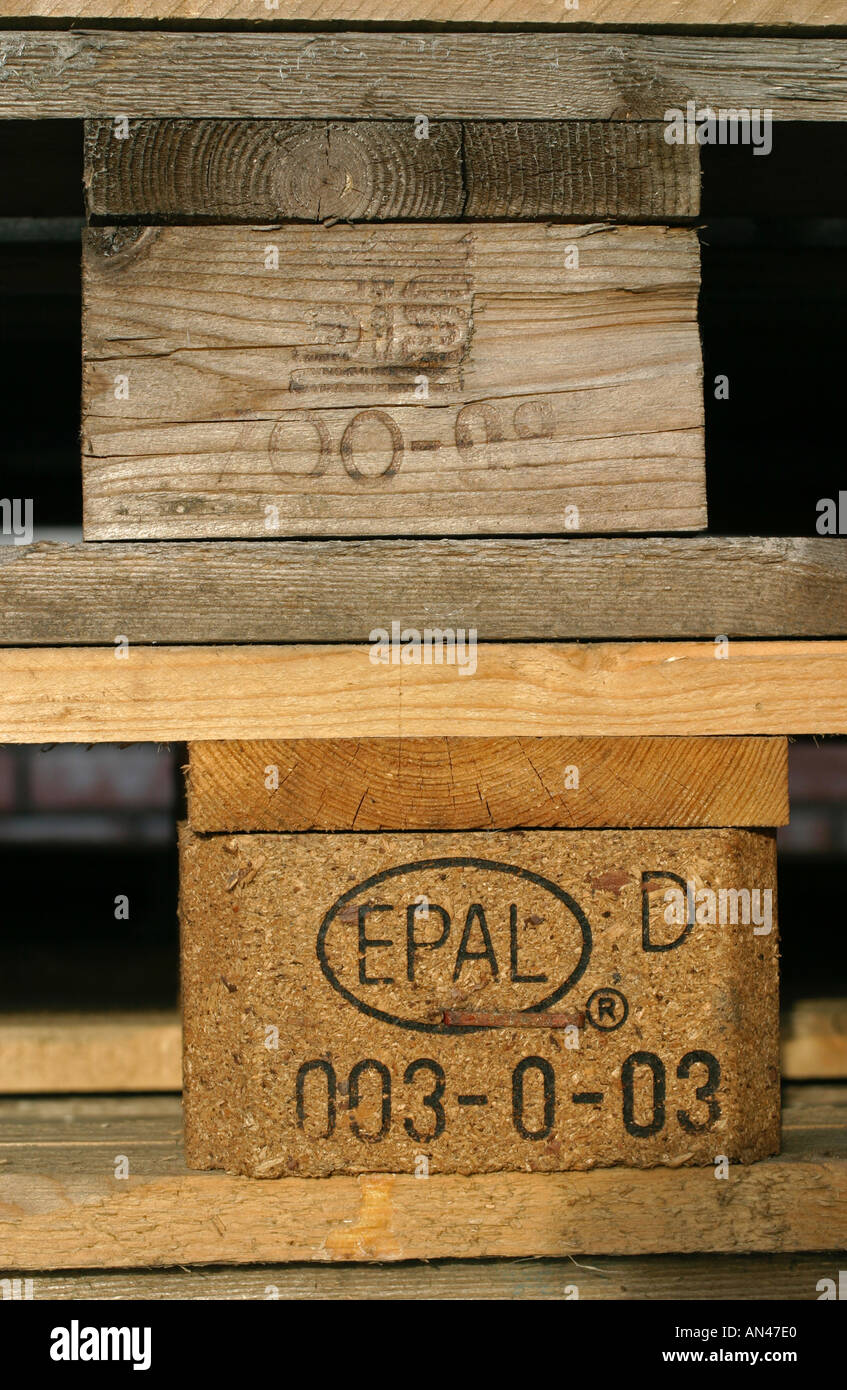 EUR EPAL brand, standard approved issue, stamps of standard approval - Stock Image