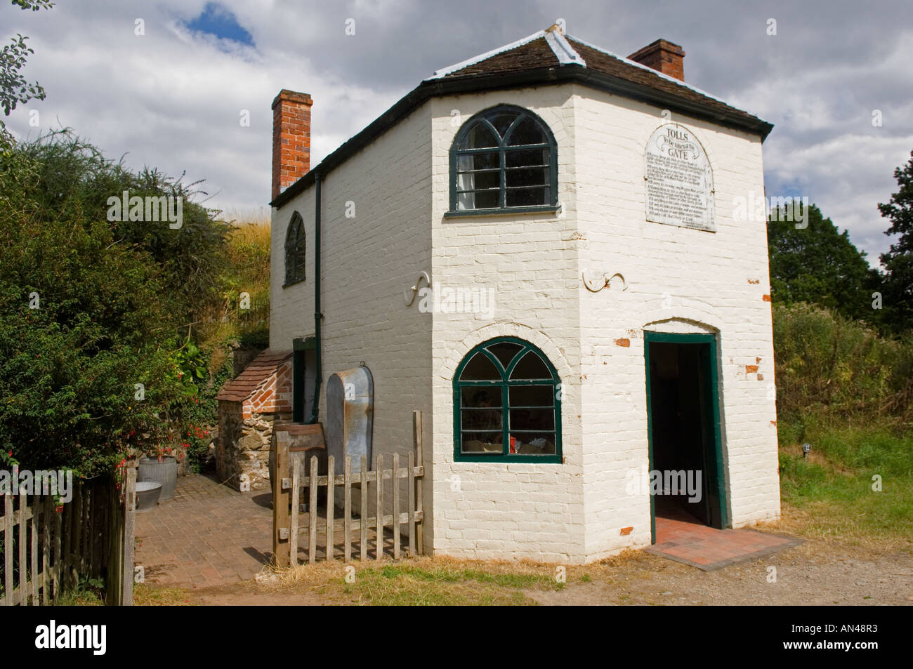The Toll Gate house at Avoncroft museum in Worcestershire West Midlands - Stock Image