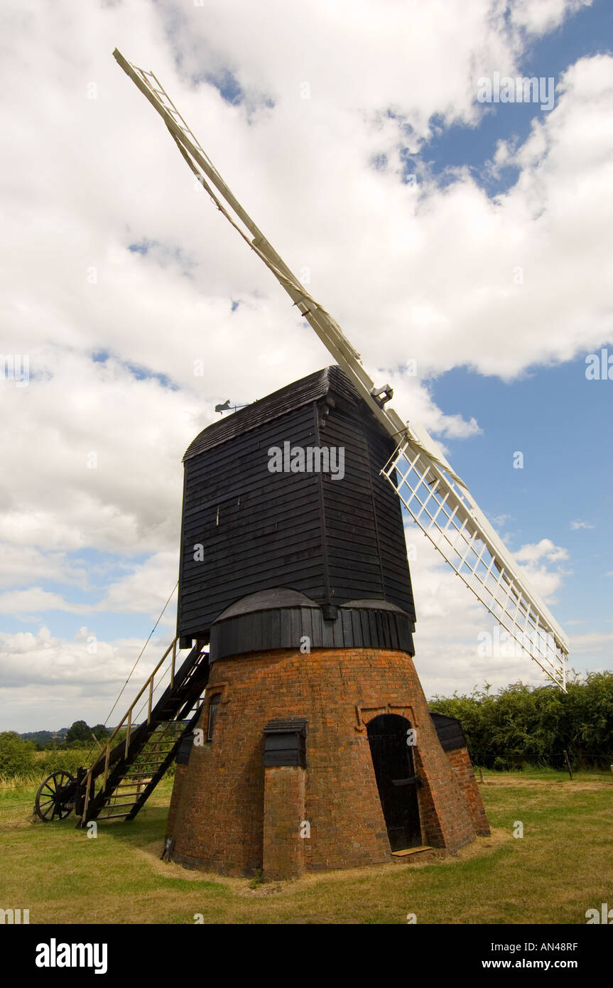 Danzey Green windmill at Avoncroft museum in Worcestershire West Midlands - Stock Image