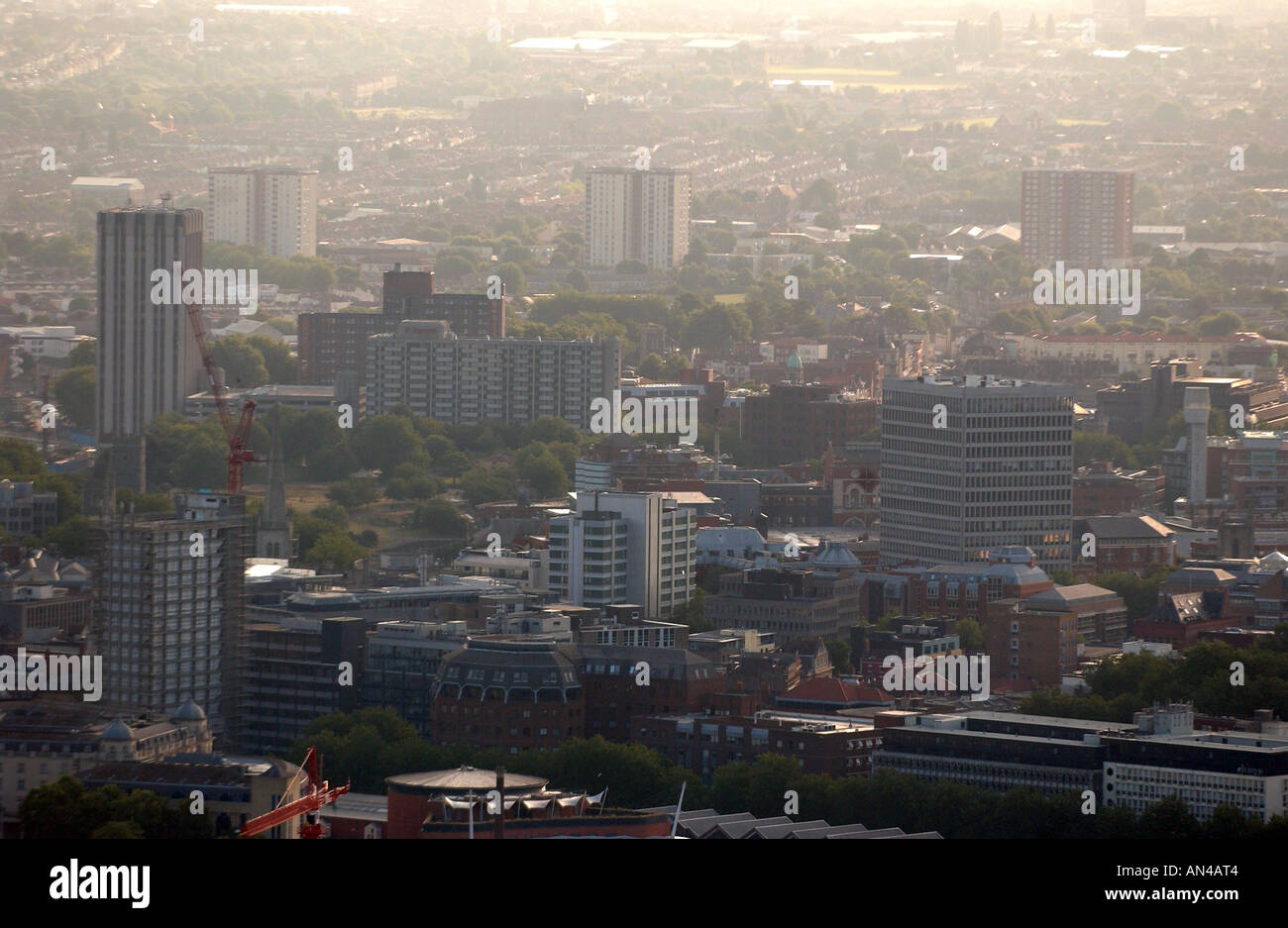 Aerial view of Bristol, UK - Stock Image