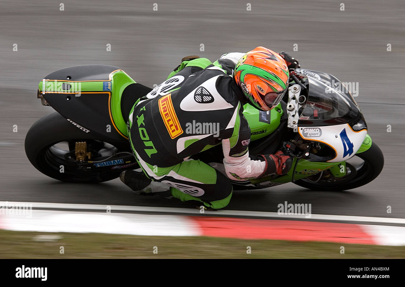 Kieran Murphy British Supersport Racer at Brands Hatch 2006 - Stock Image