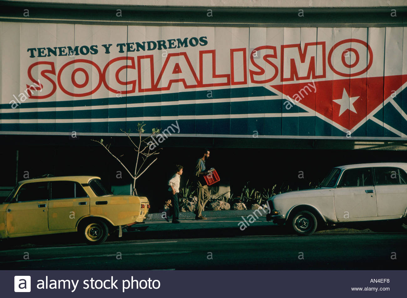 CUBA Havana Political propaganda meaning Socialism for ever Stock