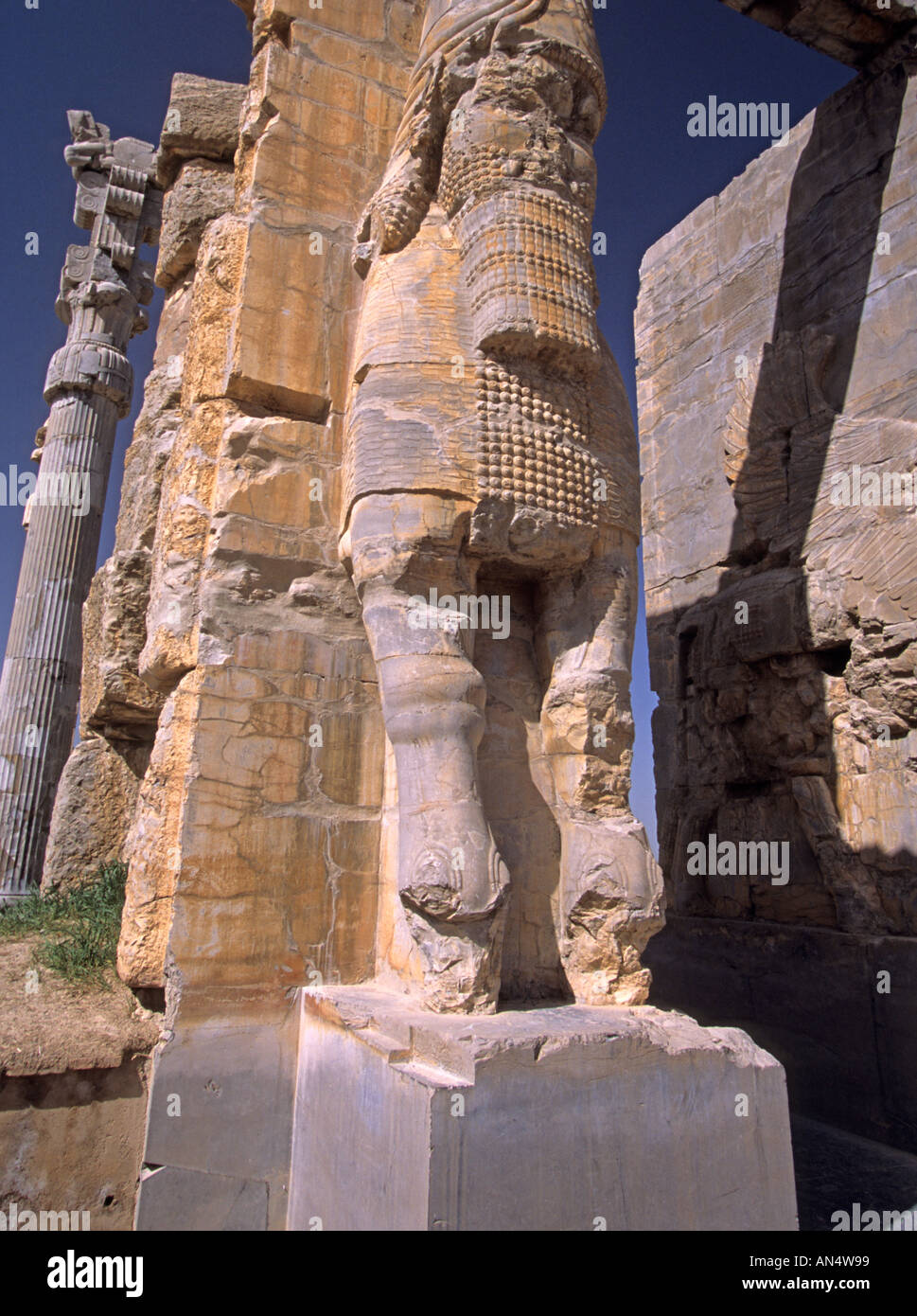 Ruins of the Gate of All Nations in ancient city of Persepolis, Iran, Middle East Stock Photo